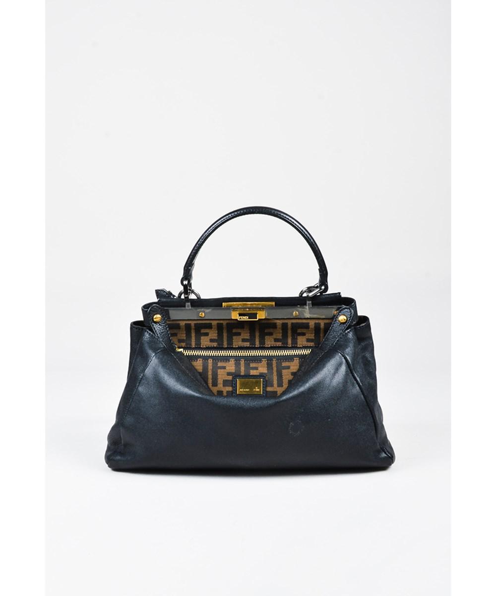 Lyst - Fendi 1 Black Leather Small \
