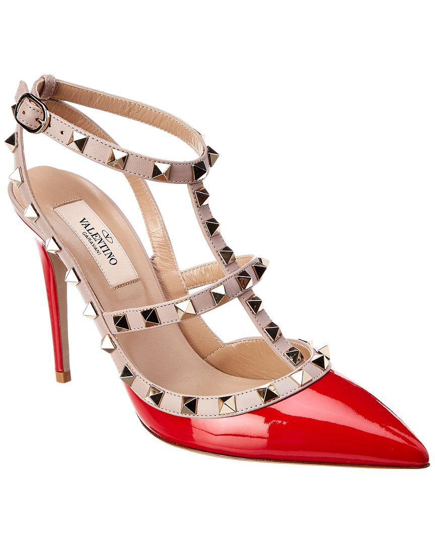 fc4bd7ba8db7 Valentino. Women s Rockstud Patent Ankle Strap Pump