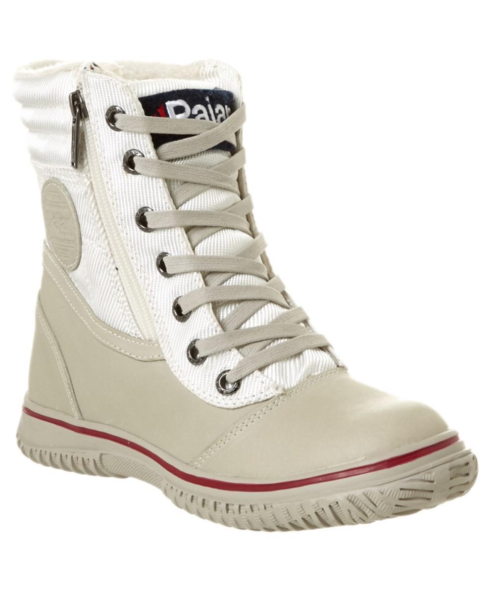 Pajar. White Women's Leslie Waterproof Leather Boot
