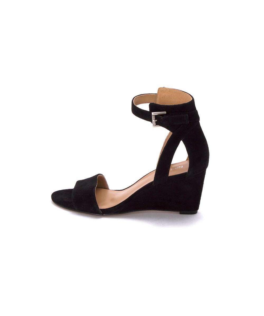 695d629143 Lyst - Nine West Womens Nobody Open Toe Ankle Strap Wedge Pumps in Black