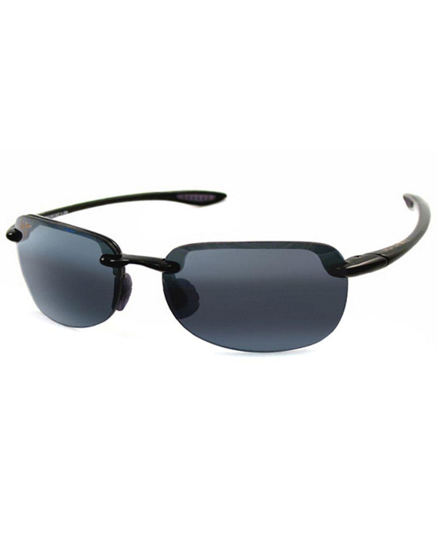 e3d253109d4d Lyst - Maui Jim Unisex Sandy Beach Sport Polarized Sunglasses in Black