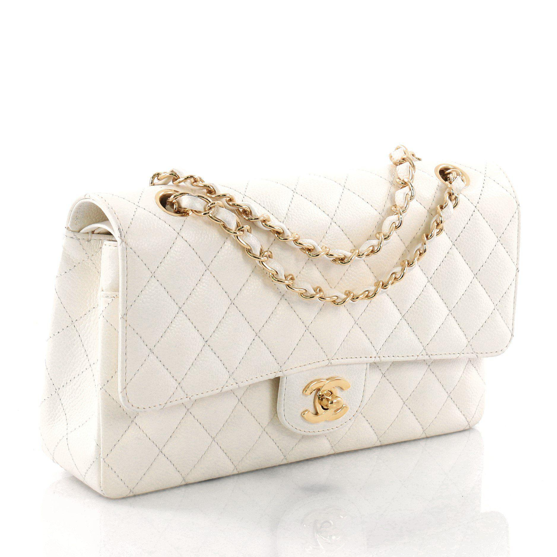 9a1c37de8209 Chanel - Multicolor Pre Owned Vintage Classic Double Flap Bag Quilted  Caviar Medium - Lyst. View fullscreen