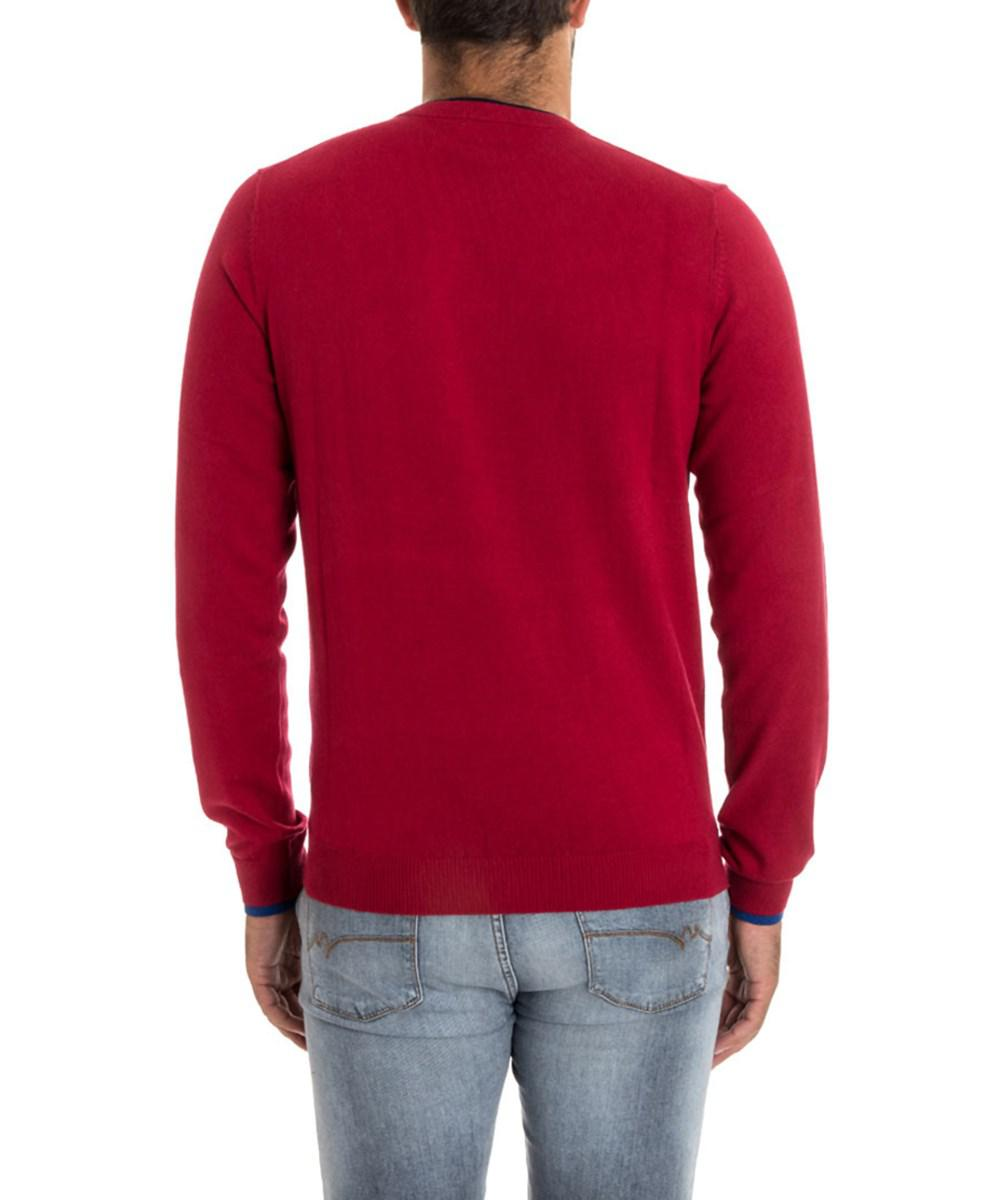 Sun 68 Men's Red Cotton Sweater in Red for Men | Lyst