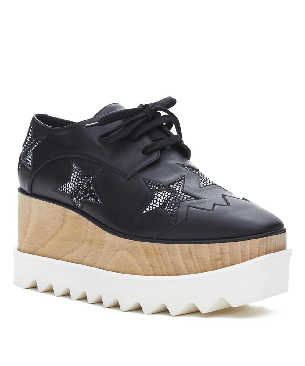 590534ff6be Stella McCartney. Women s Elyse Brogue Platform Creeper Shoes Black  Snakeskin