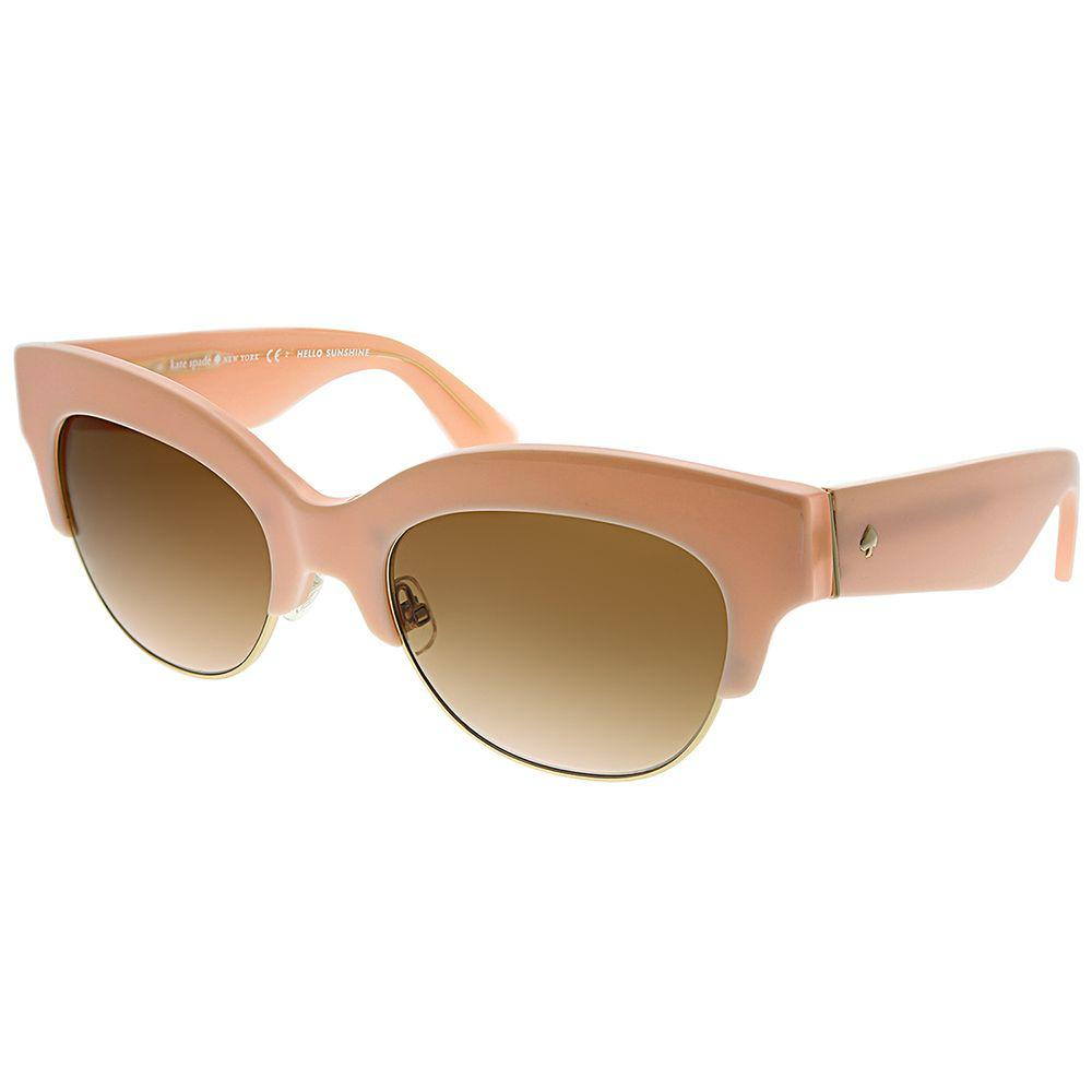 2d020383a3 Lyst - Kate Spade Ks Nikki s Qpf wi 53mm Pink Gold Cat-eye Sunglasses