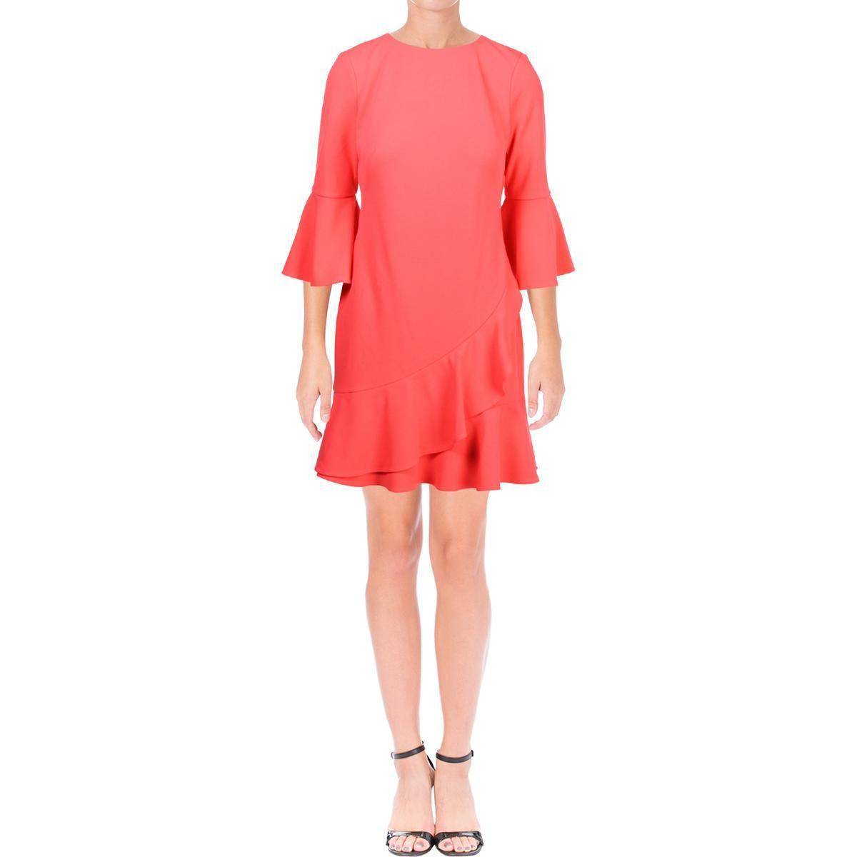 2d6301e5 Lyst - Lauren By Ralph Lauren Womens Tiered Mini Cocktail Dress in Pink