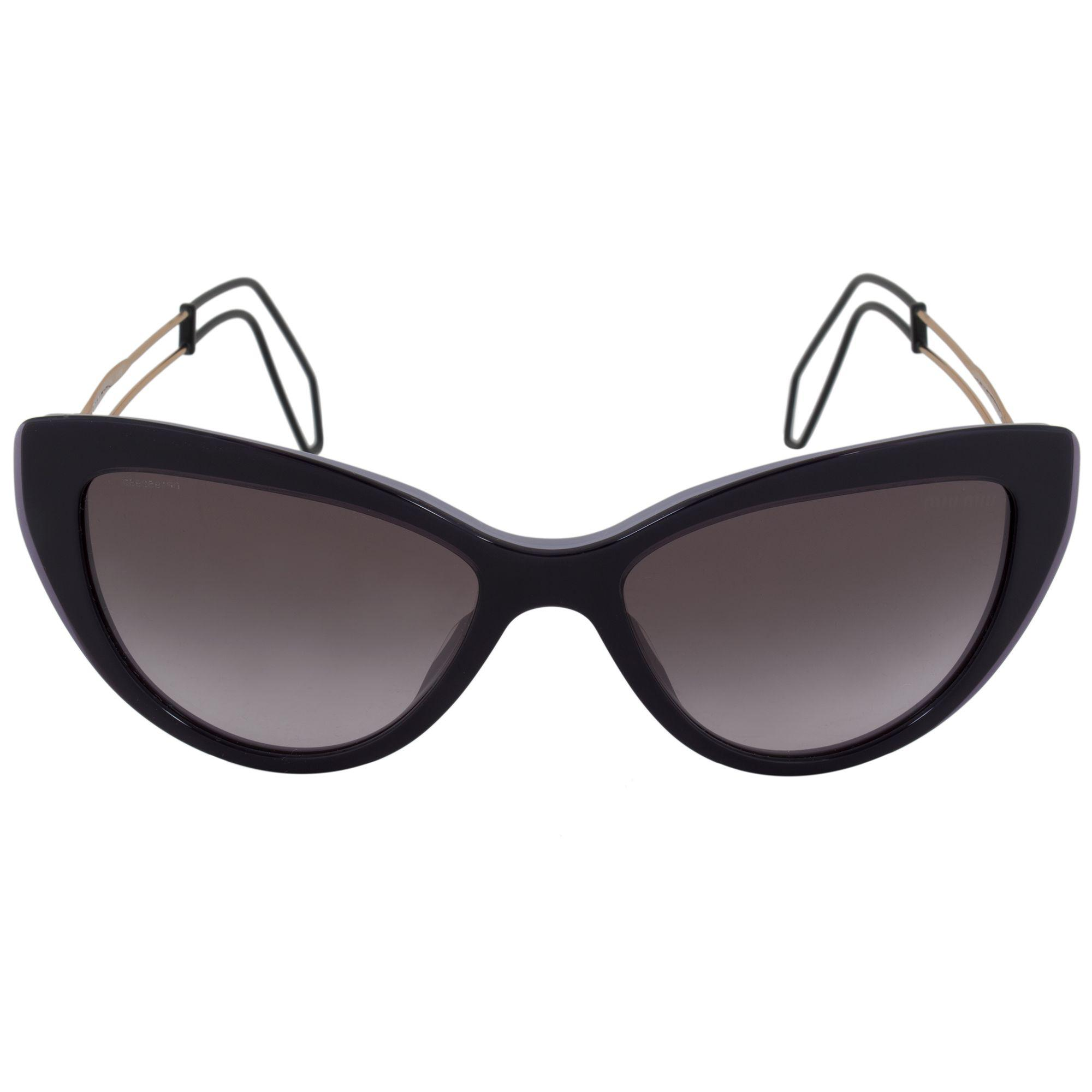 34e569a028e Lyst - Miu Miu Cat Eye Sunglasses Smu12rs Usn3e2 55