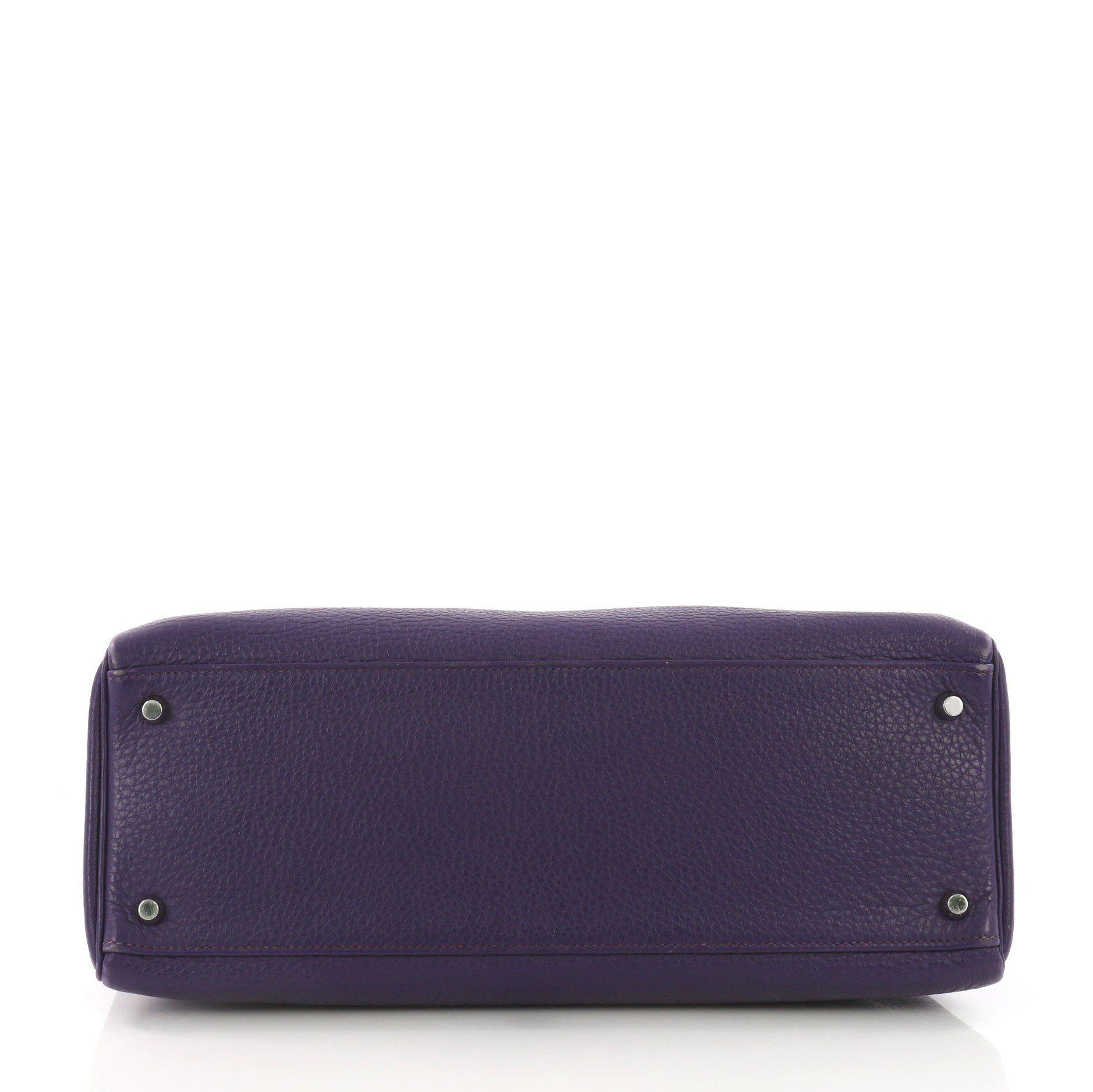 603f1df3a81a Hermès - Purple Pre Owned Kelly Handbag Iris Togo With Palladium Hardware 35  - Lyst. View fullscreen