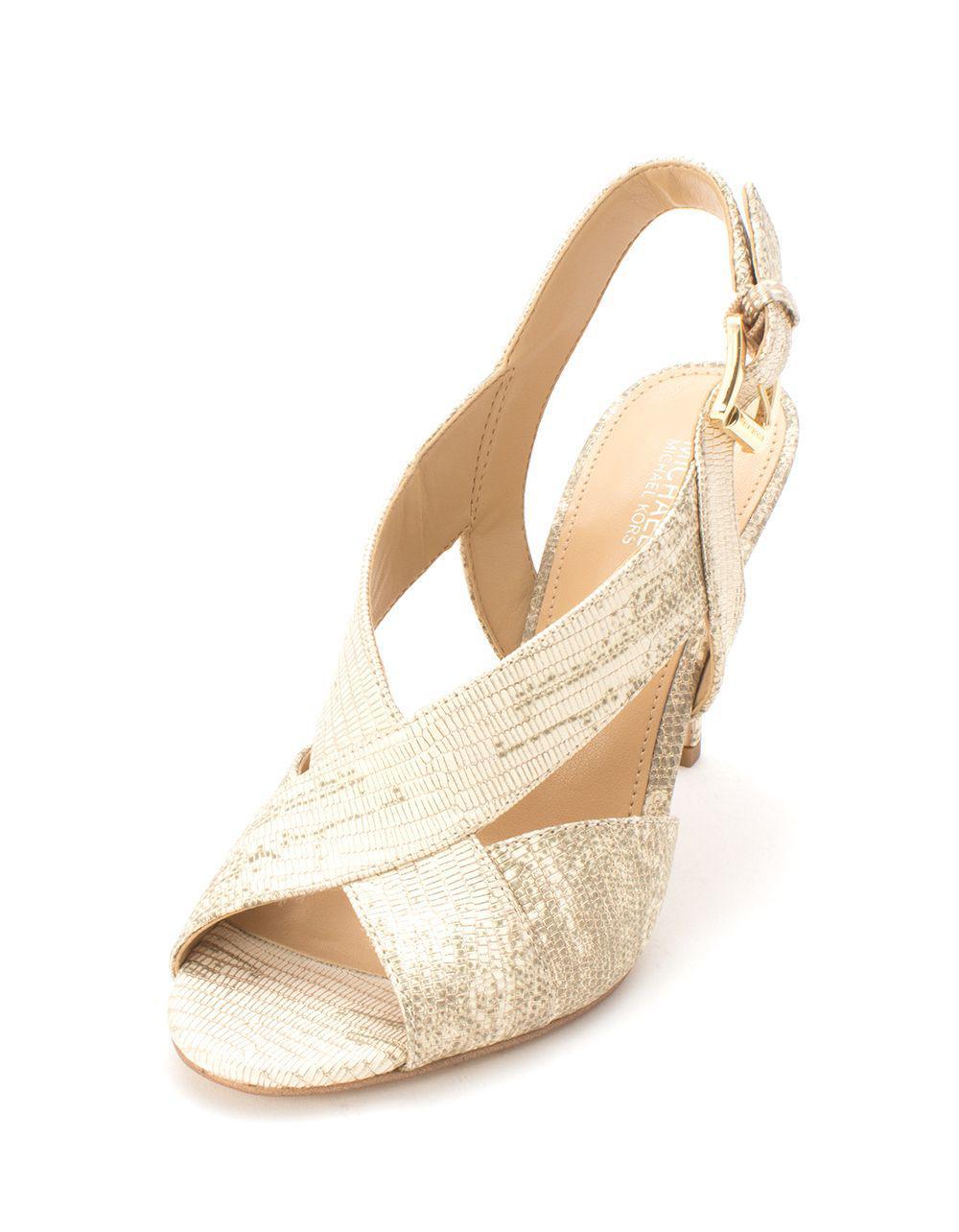 1b520651810a Michael Kors - Metallic Womens Becky Open Toe Casual Slingback Sandals -  Lyst. View fullscreen