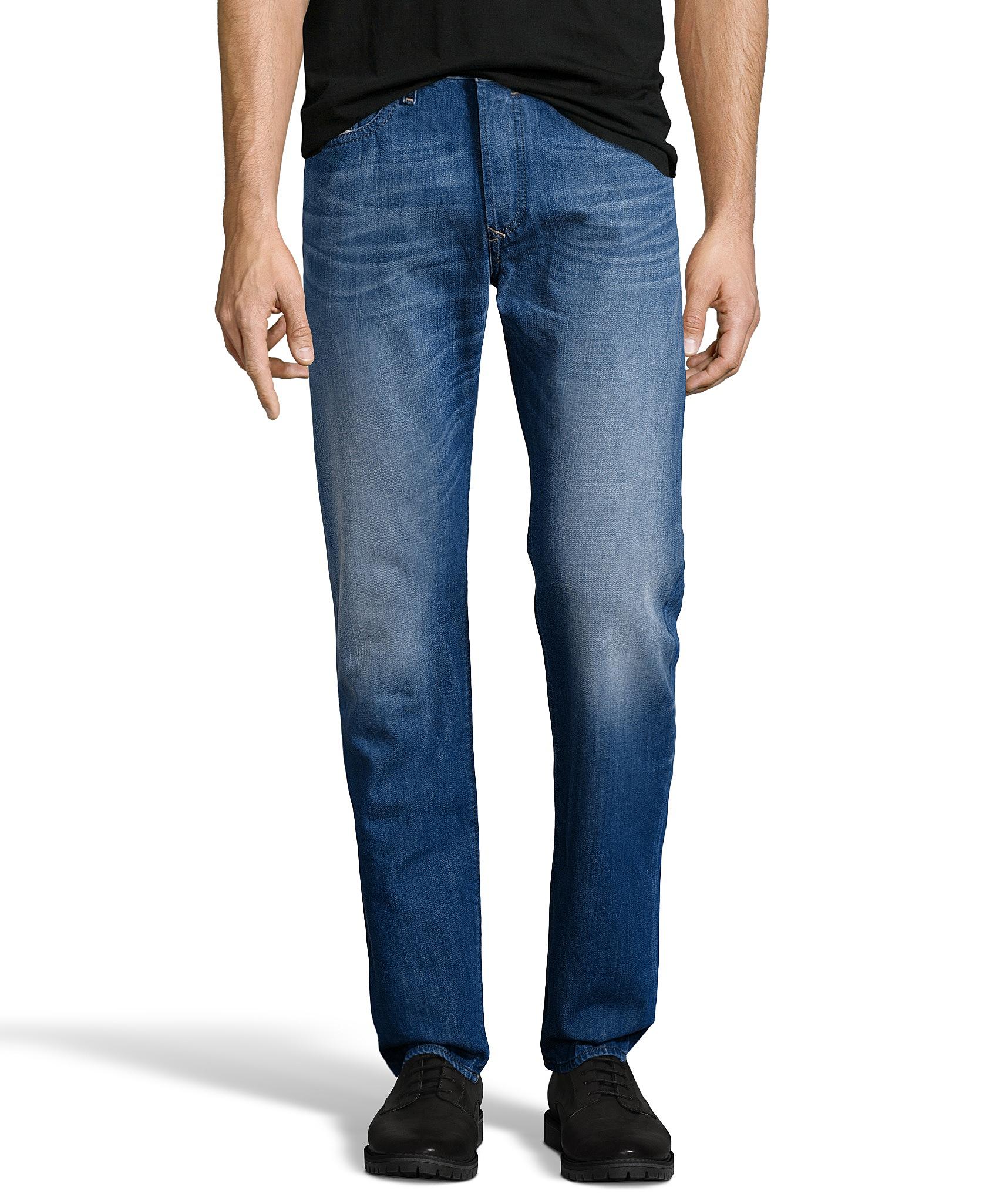 diesel buster regular slim tapered denim jeans in blue for men save 55 lyst. Black Bedroom Furniture Sets. Home Design Ideas
