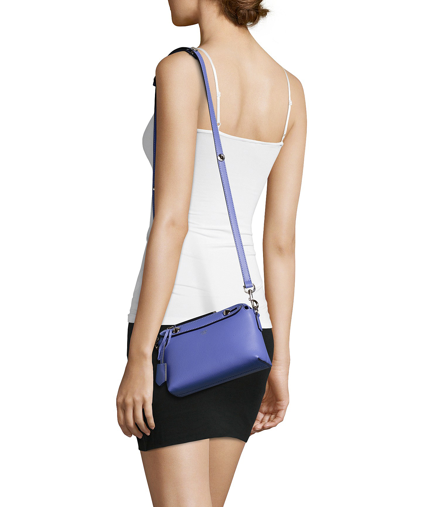 5128cf798dfd ... cheap lyst fendi lilac leather by the way mini shoulder bag in purple  ff1f2 19324