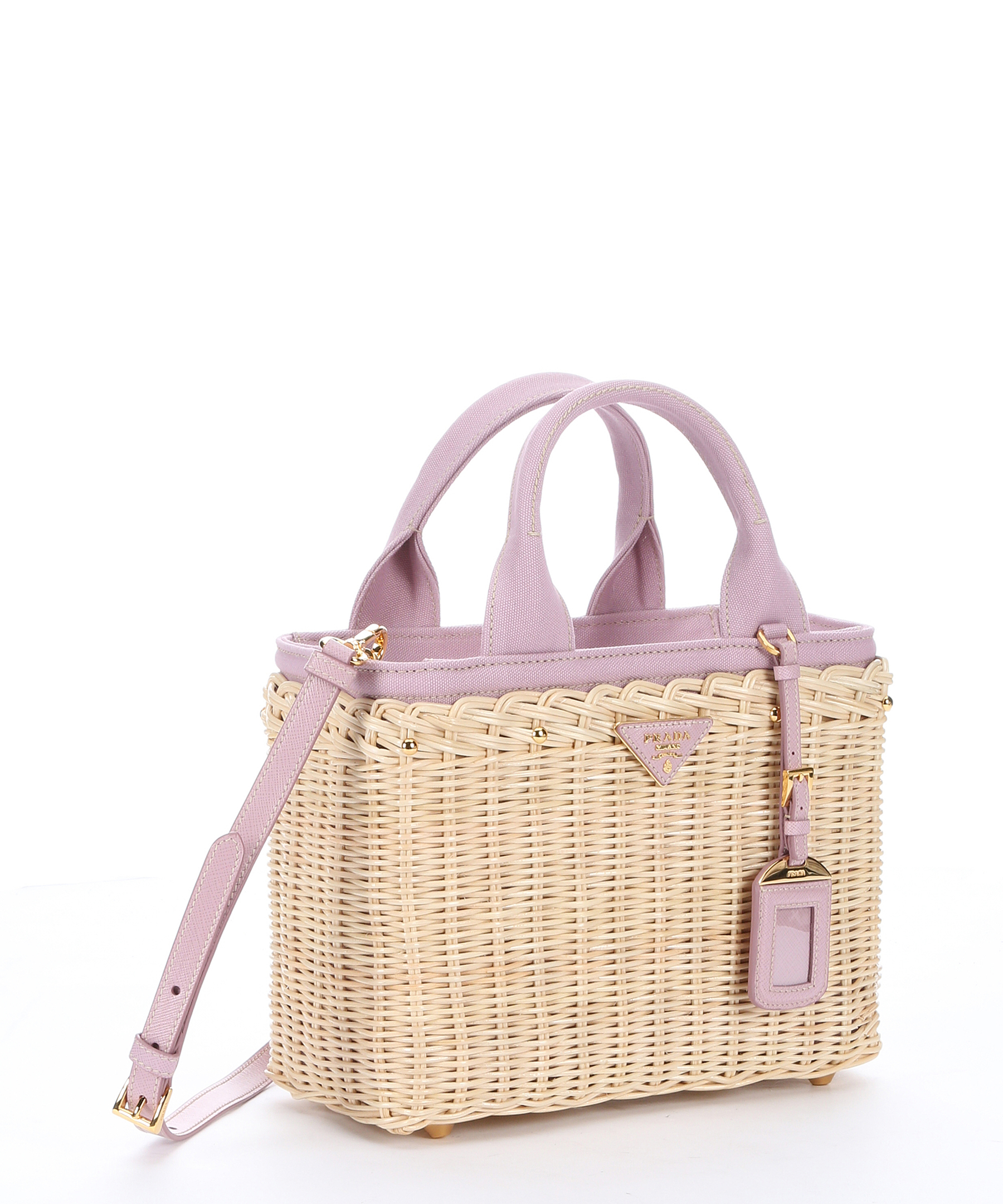 829a07387b28 Prada Wicker Bag With Patch 1bg835 Black. Prada Natural Wicker And Rose  Canvas ...