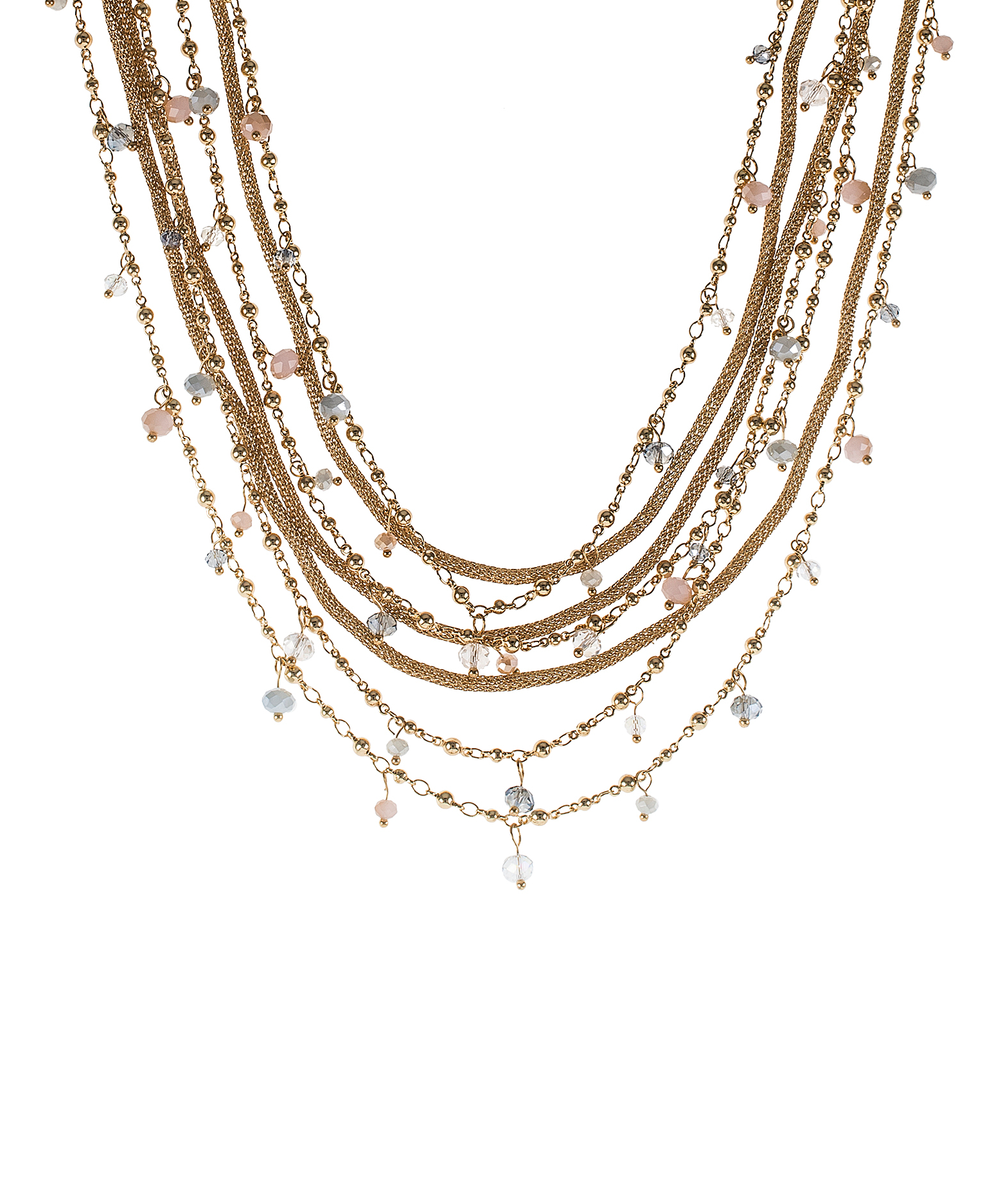 jardin multi stranded necklace with crystal accent in