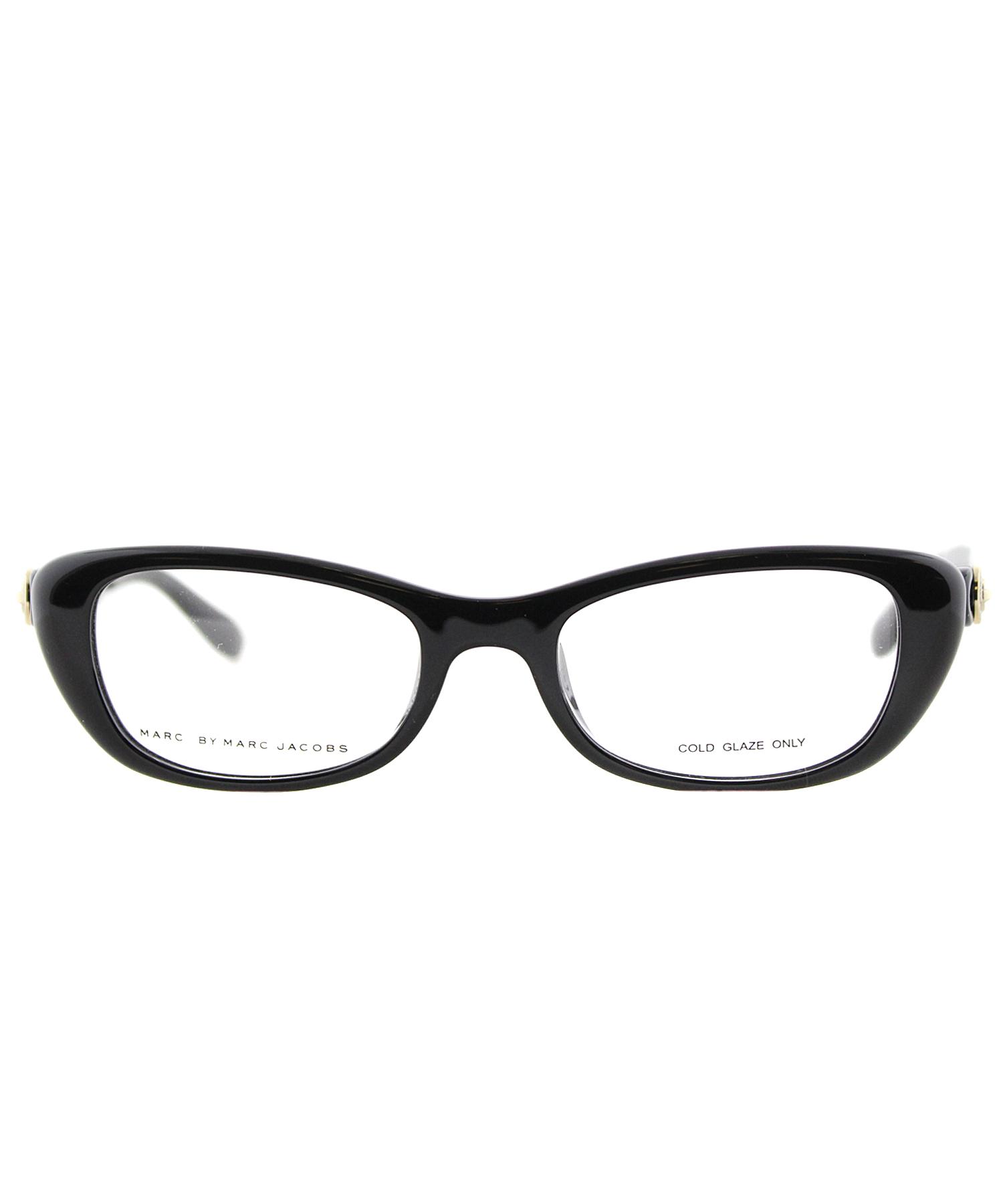 marc by marc cat eye plastic eyeglasses in black