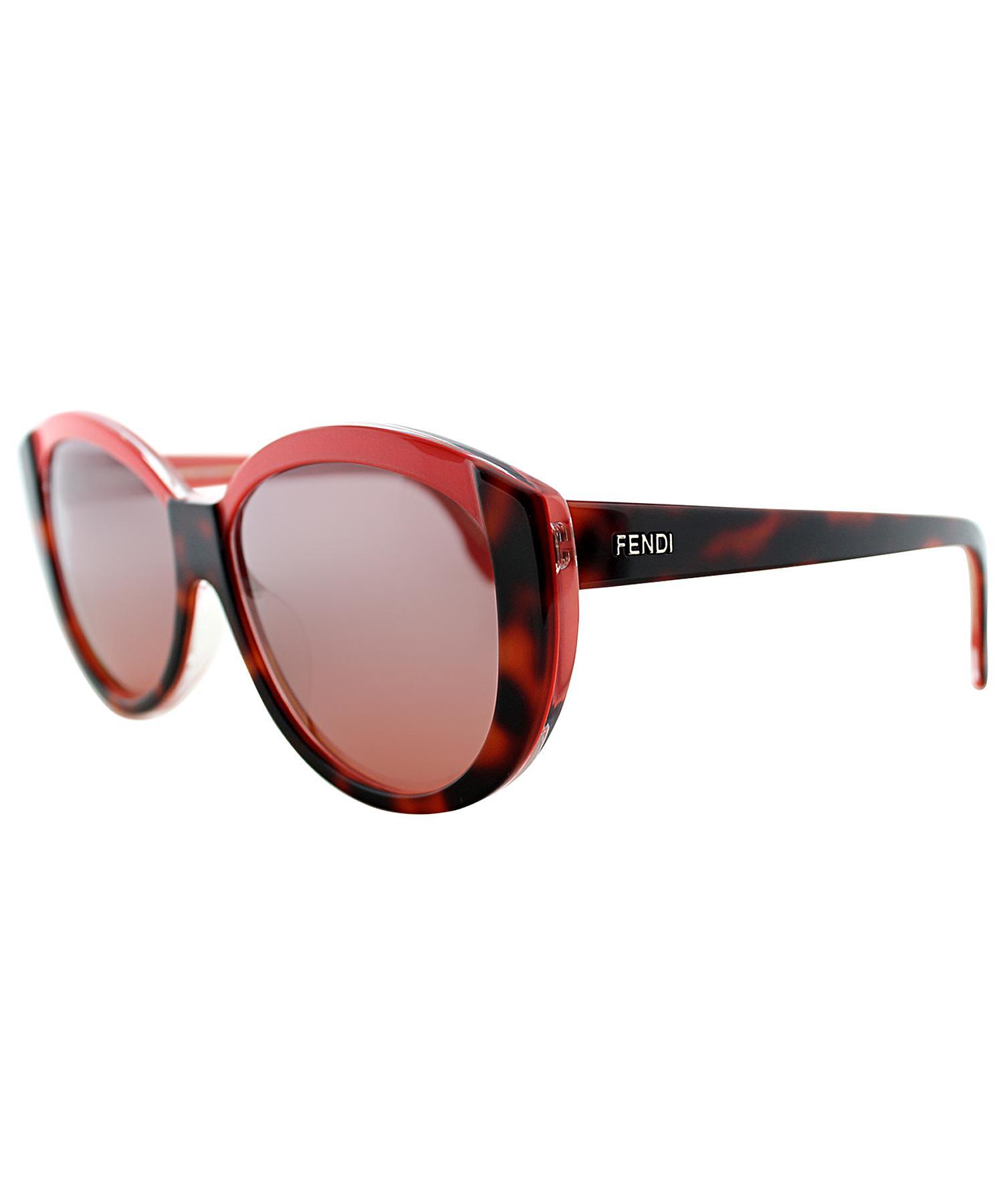69806383d1 Fendi Round Plastic Sunglasses in Red