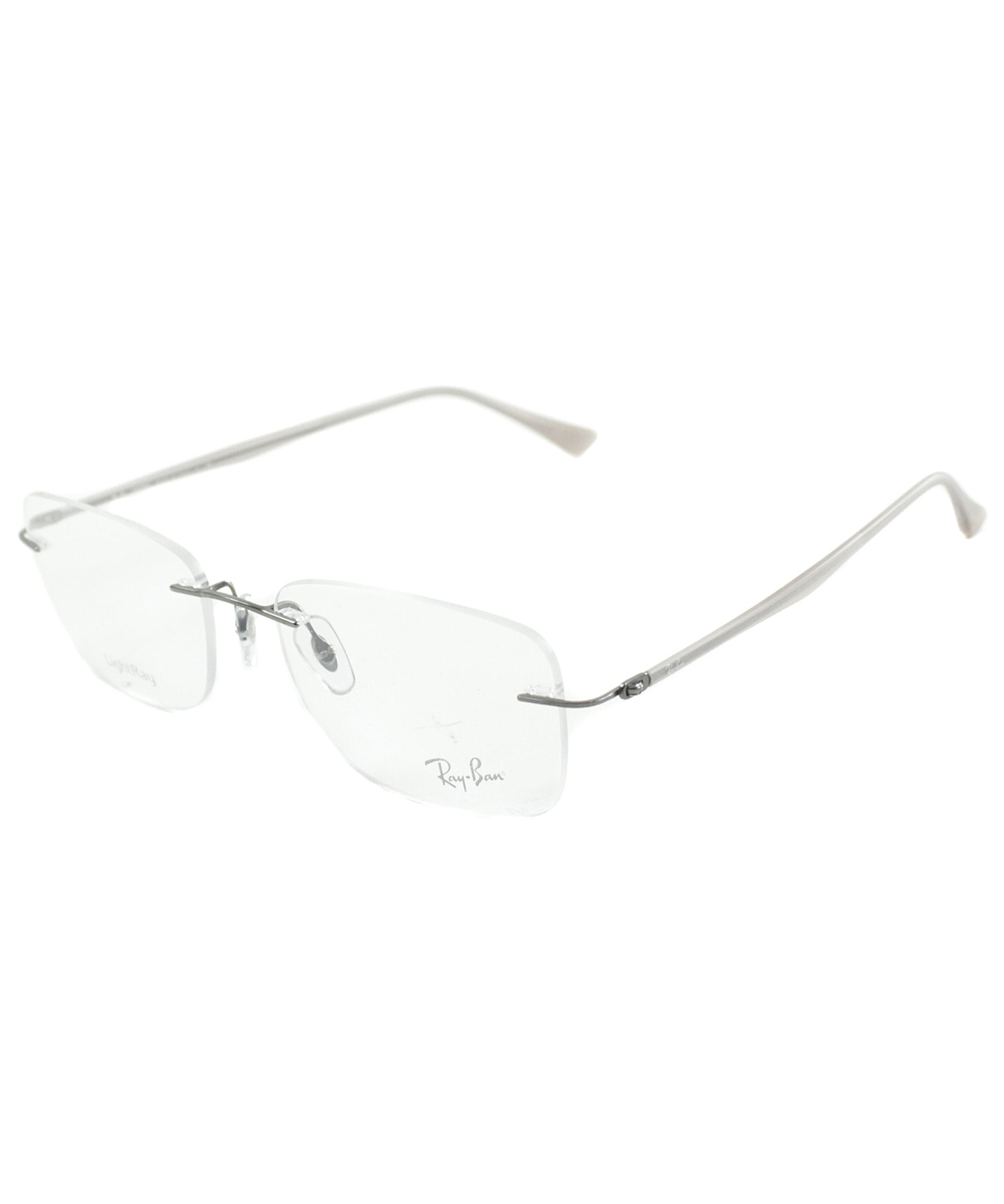 071569572f8 Lyst - Ray-Ban Rimless Metal Eyeglasses in White