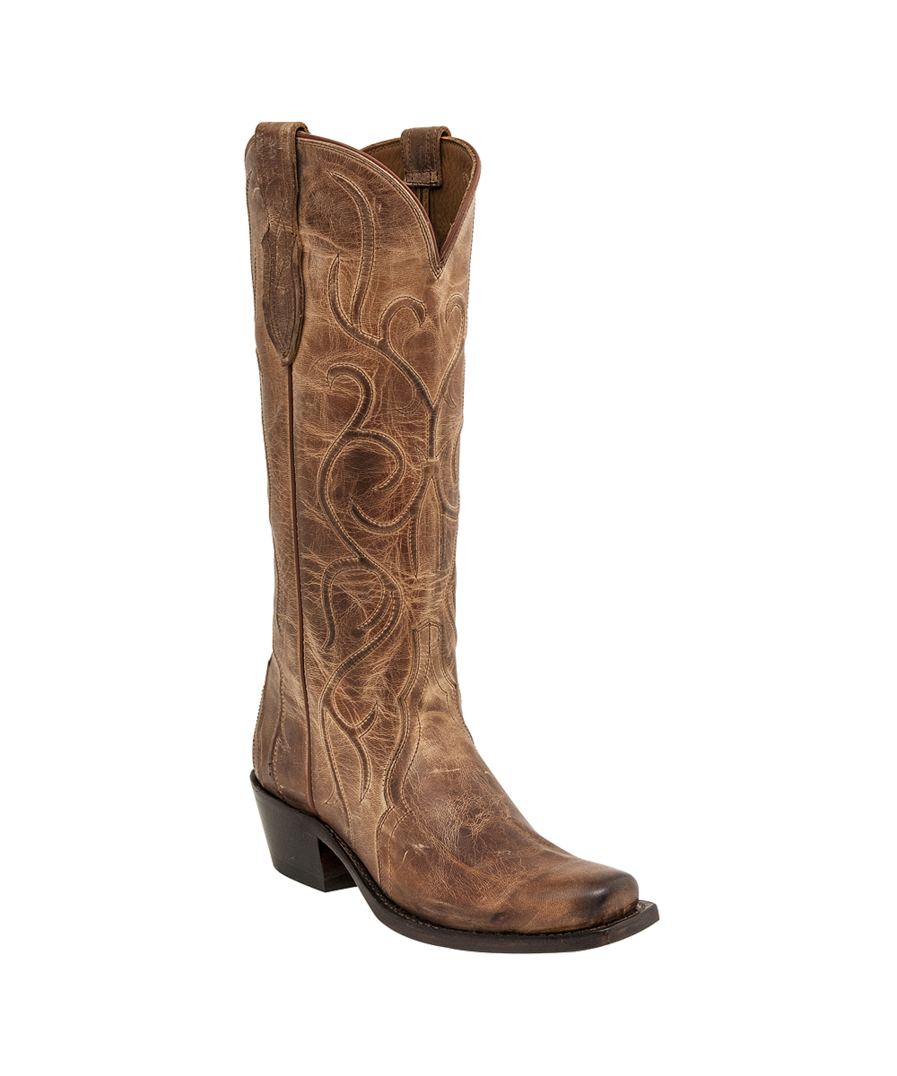 Innovative Lucchese Women39s Tan Burnished Jersey Calf S5 Toe Boots
