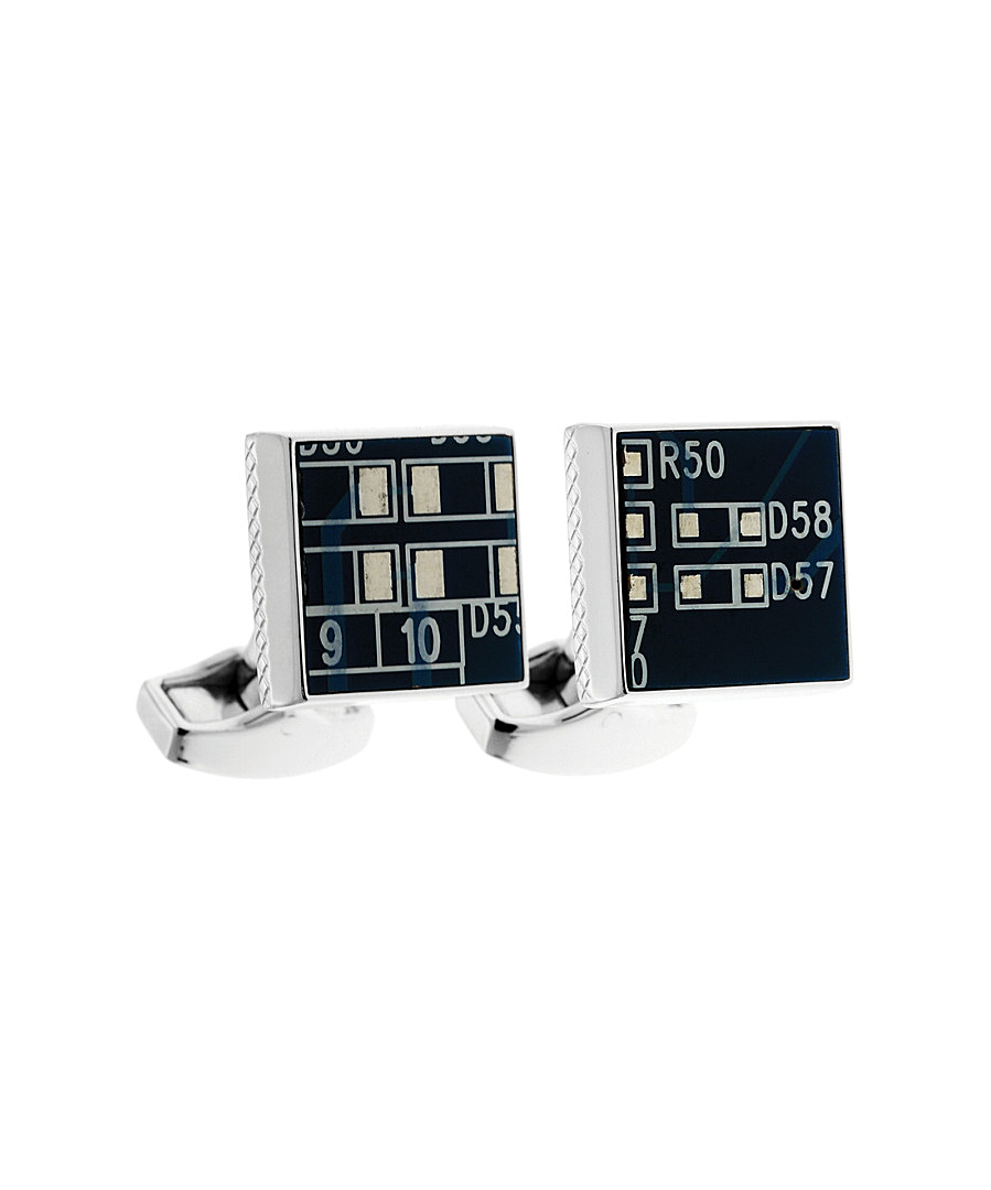 Lyst Tateossian Rt By Circuit Square Plated Cufflinks In Blue For Men Board Gallery