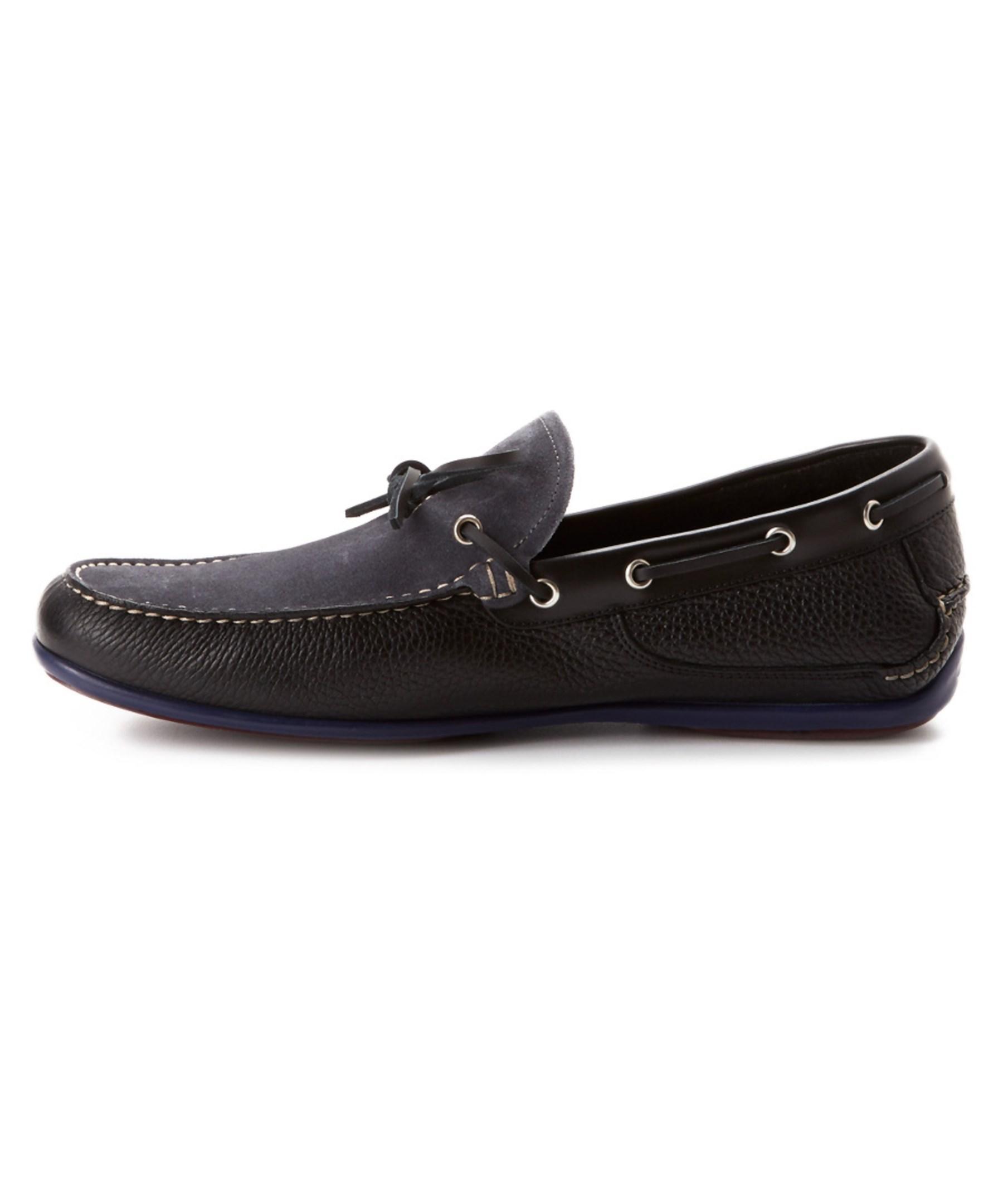 Salvatore Ferragamo Mango Boat Shoe Black