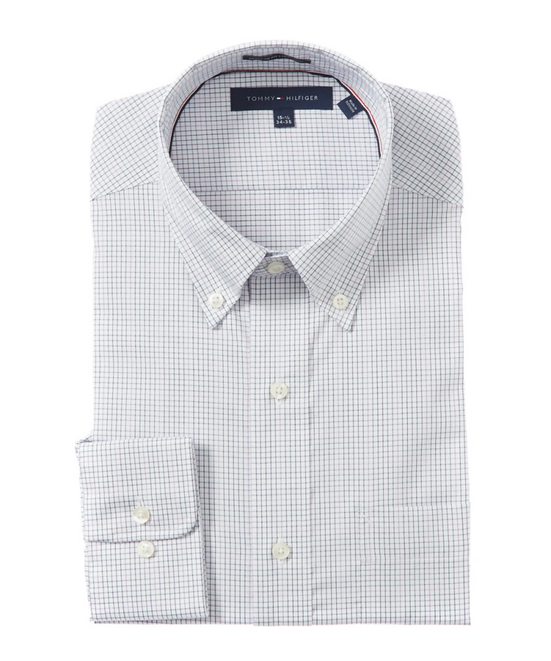 Tommy Hilfiger Classic Fit Dress Shirt In Purple For Men