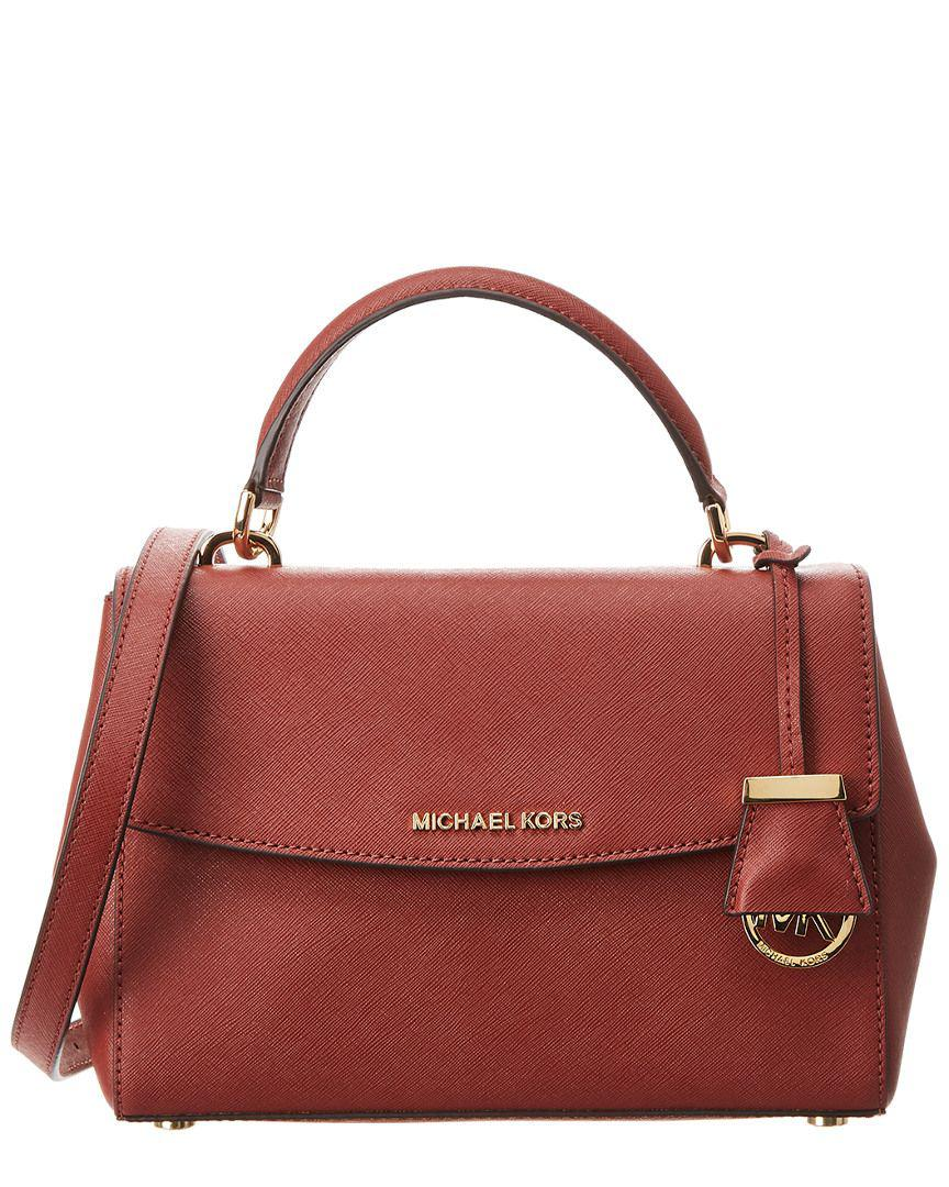 d50a2a5577f6 MICHAEL Michael Kors. Women s Red Michael Kors Ava Small Leather Satchel