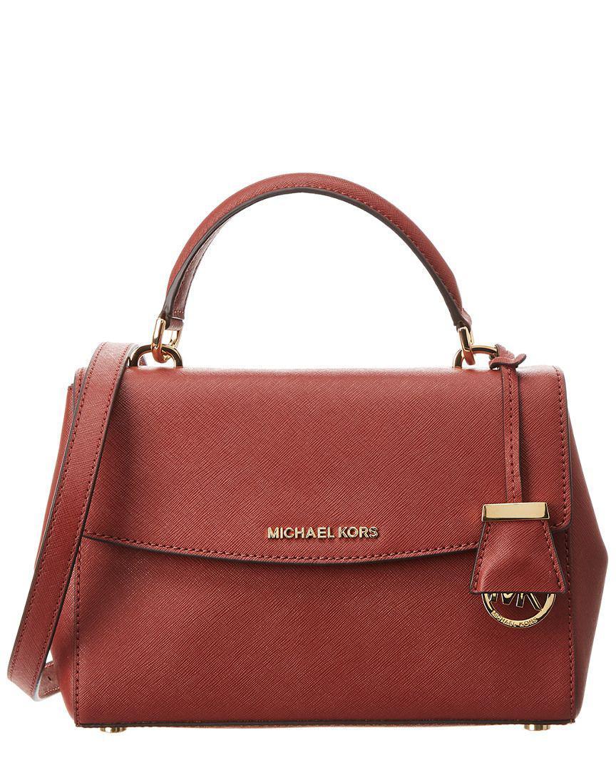 b5f04416d3bdd MICHAEL Michael Kors. Women s Red Michael Kors Ava Small Leather Satchel