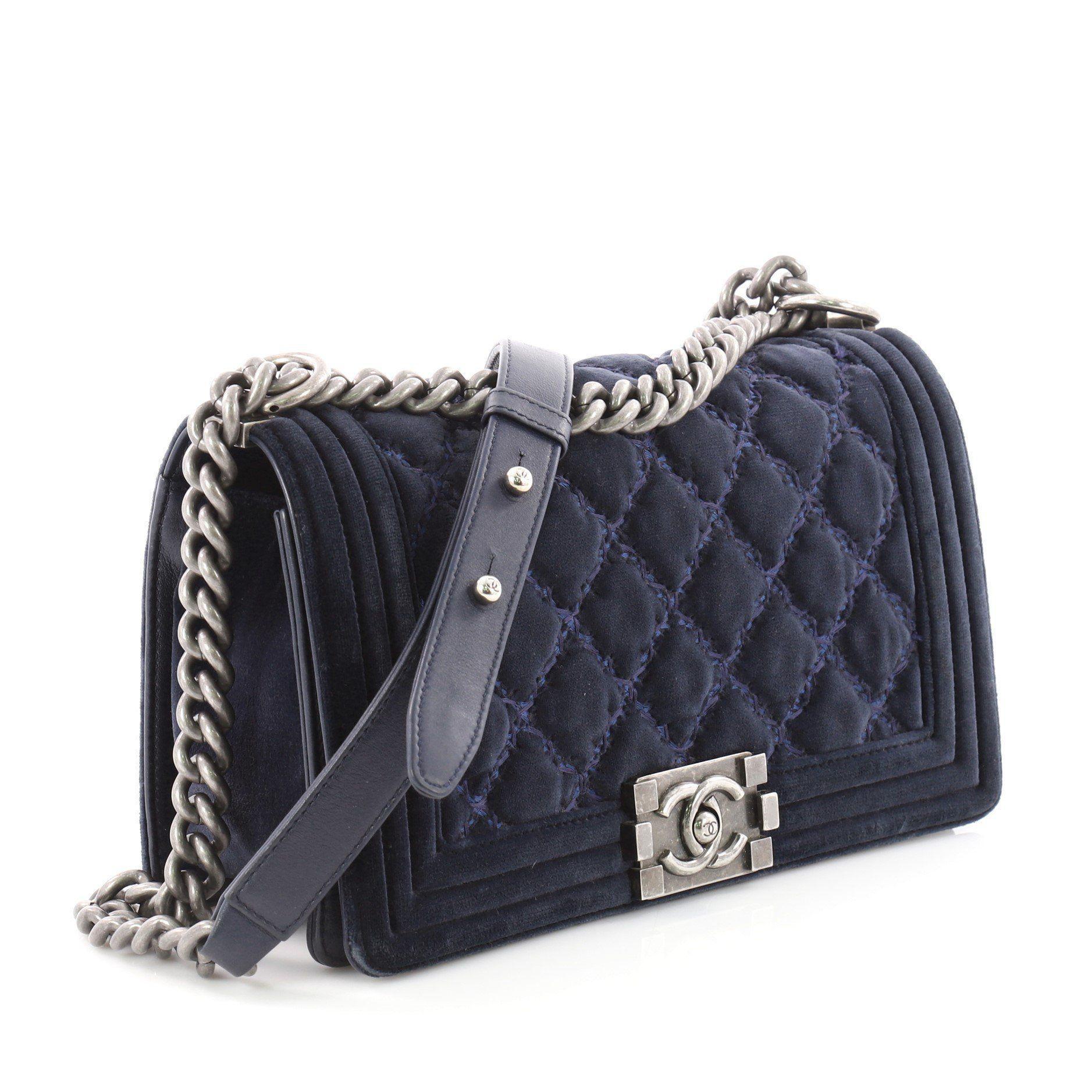 4e866c65a3f2 Chanel Velvet Boy Quilted Flap Bag - Best Quilt Grafimage.co