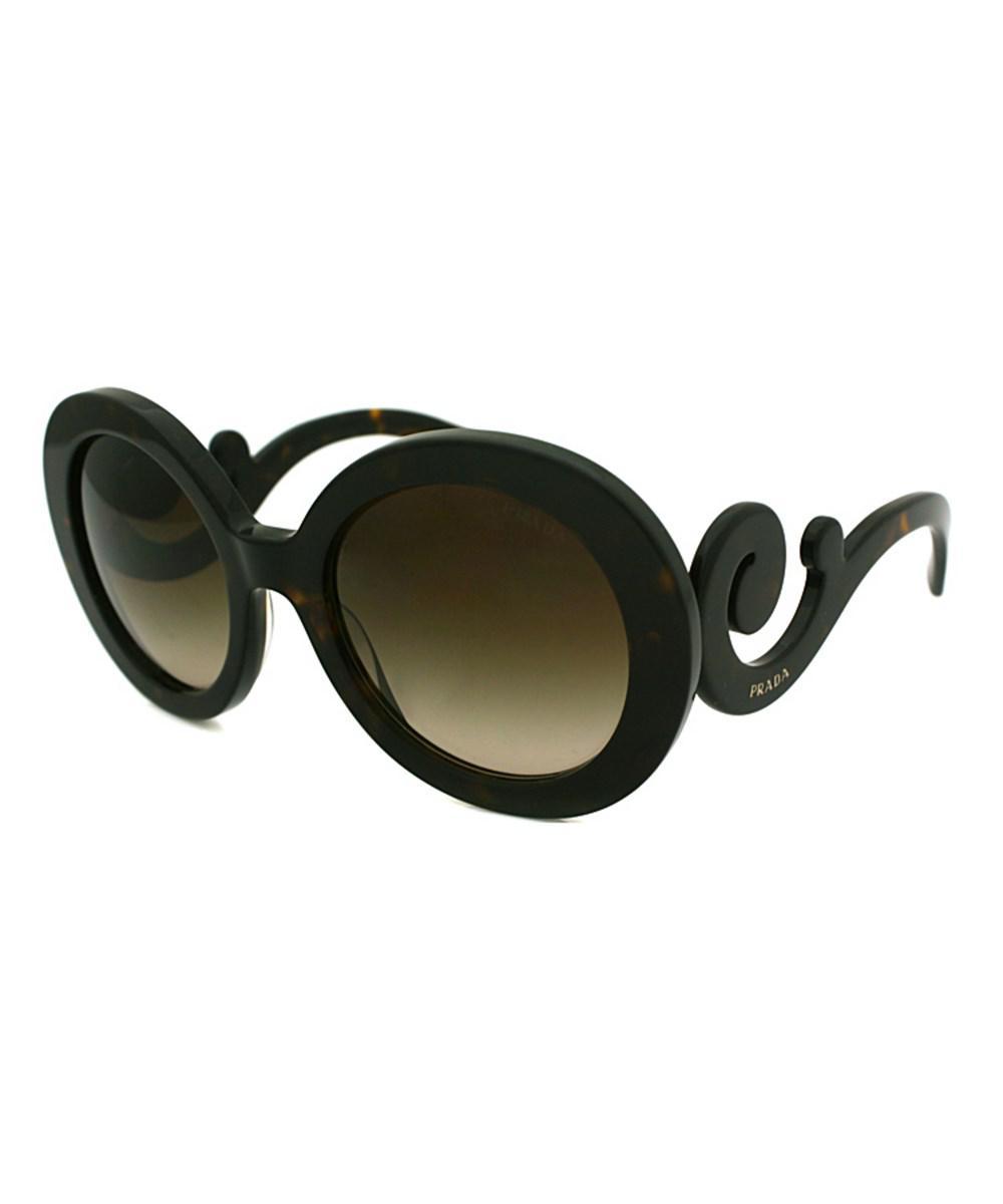 fec21b4313e5a Prada - Multicolor Minimal Baroque Round Plastic Sunglasses - Lyst. View  fullscreen