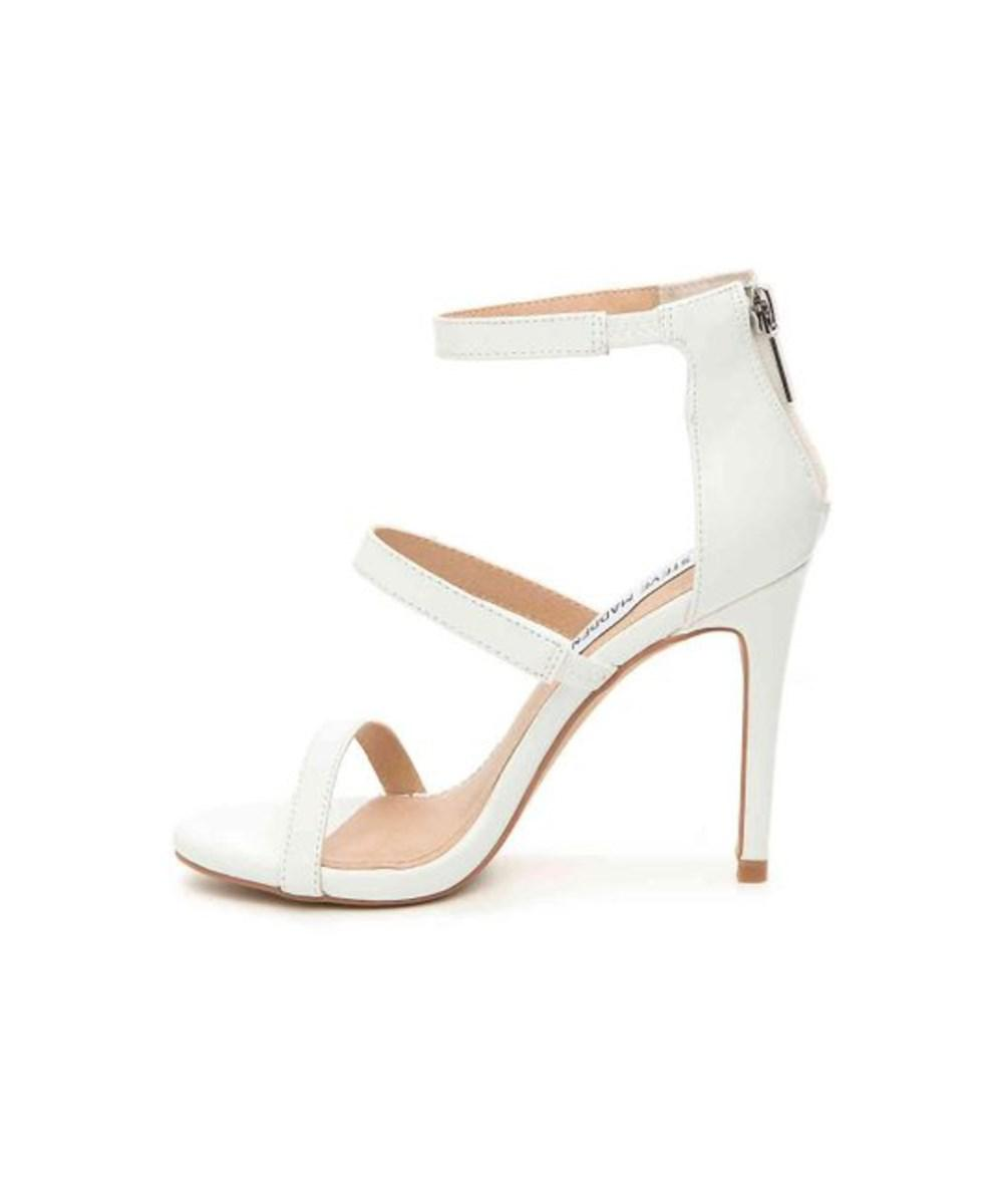 2a9c139e5d51 Steve Madden. White Womens Feelya Open Toe Special Occasion Strappy Sandals
