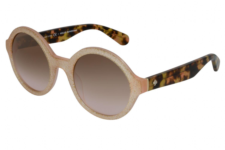 2f6f700c51e1 Lyst - Kate Spade Khrista s Round Unisex Sunglasses Pink Gold ...