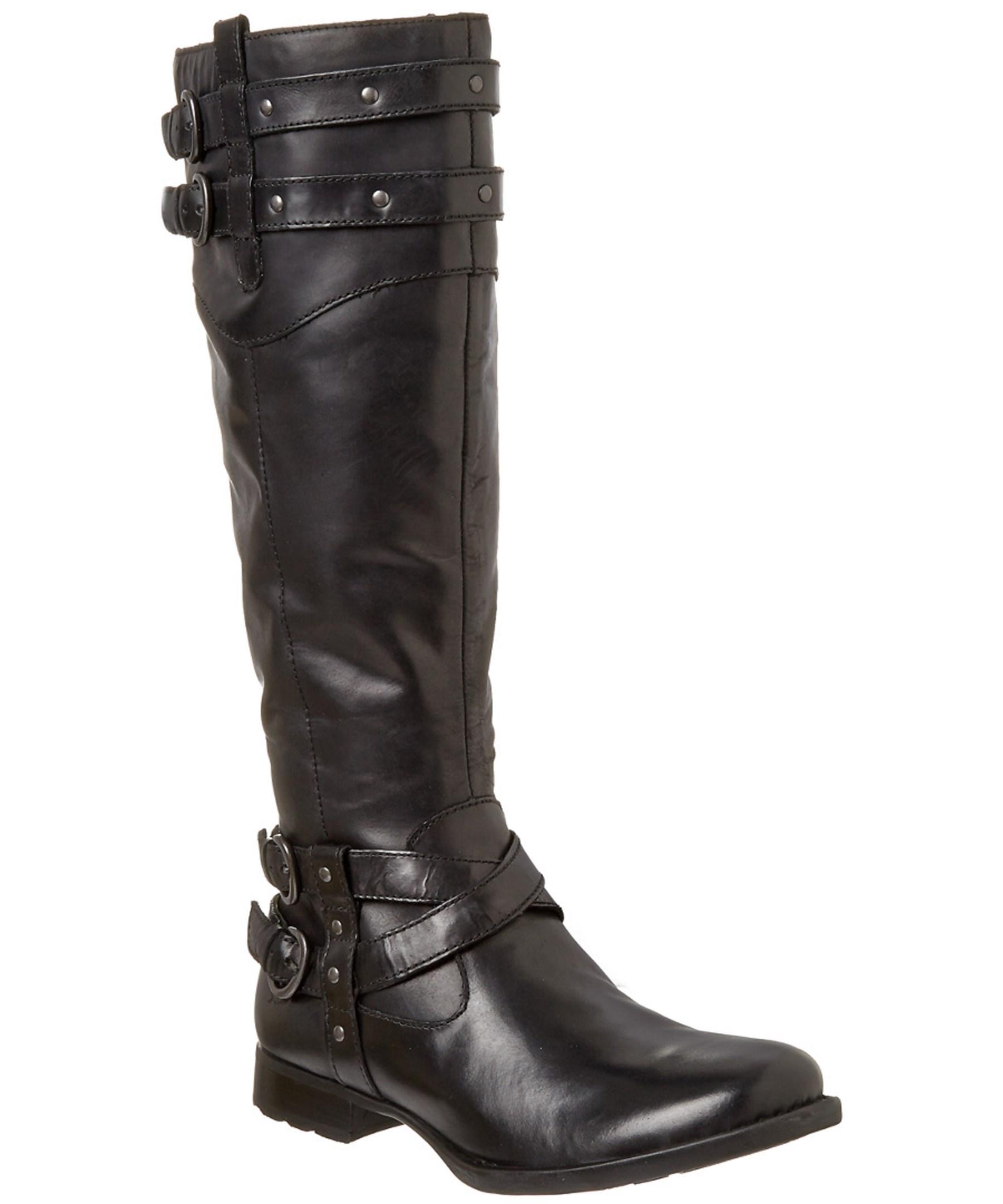 born nalani leather boot in black lyst