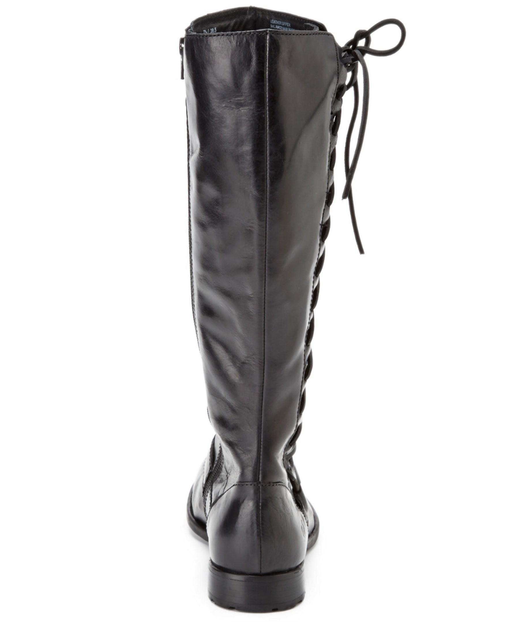 born estelle leather boot in black lyst