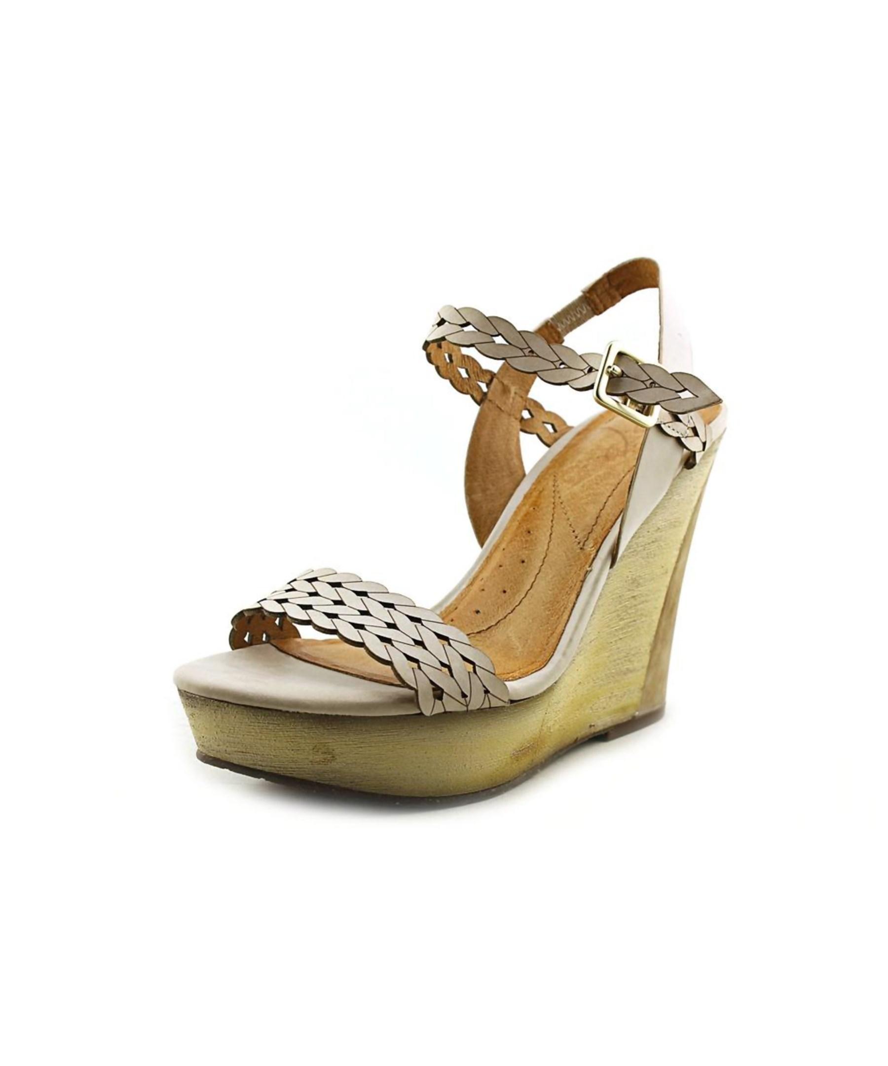 Naya Bellina Open Toe Leather Wedge Heel Lyst