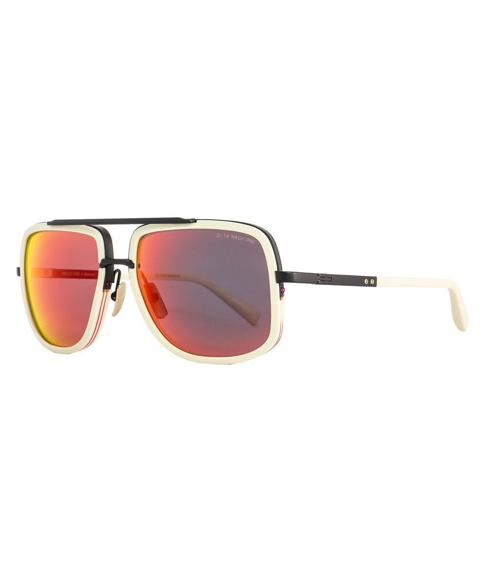 0e68ecb72c Lyst - Dita Square Sunglasses Drx2030 Mach One K-bne-blk Bone black ...