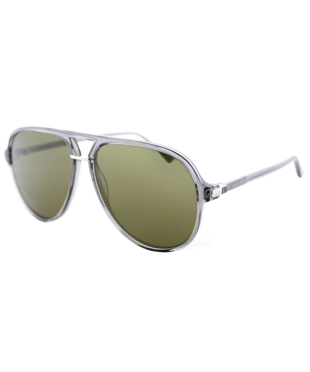 3acd9b2b33 Lyst - Gucci Gg0015s 005 Grey Aviator Sunglasses in Gray