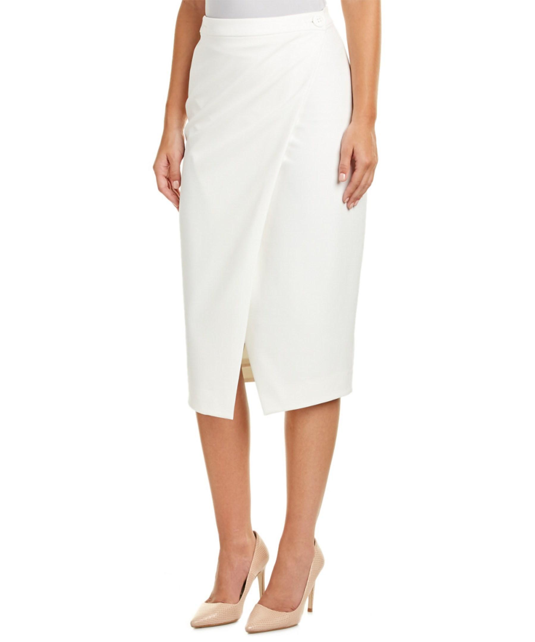 yoana baraschi midi skirt in white lyst