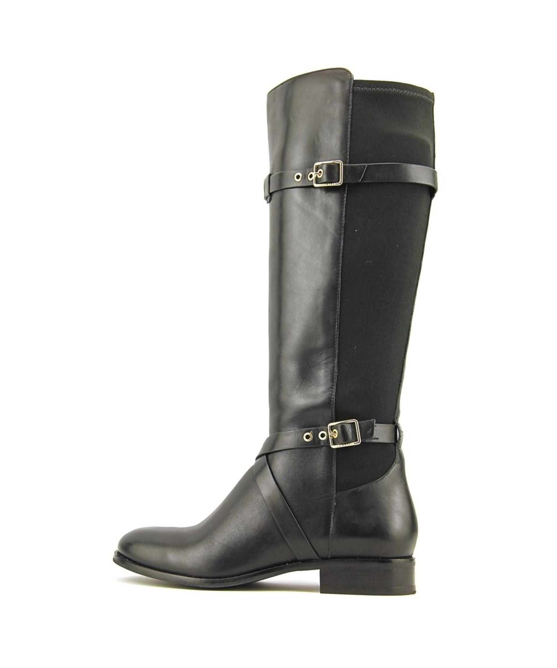cole haan dorian stretch boot c toe leather knee