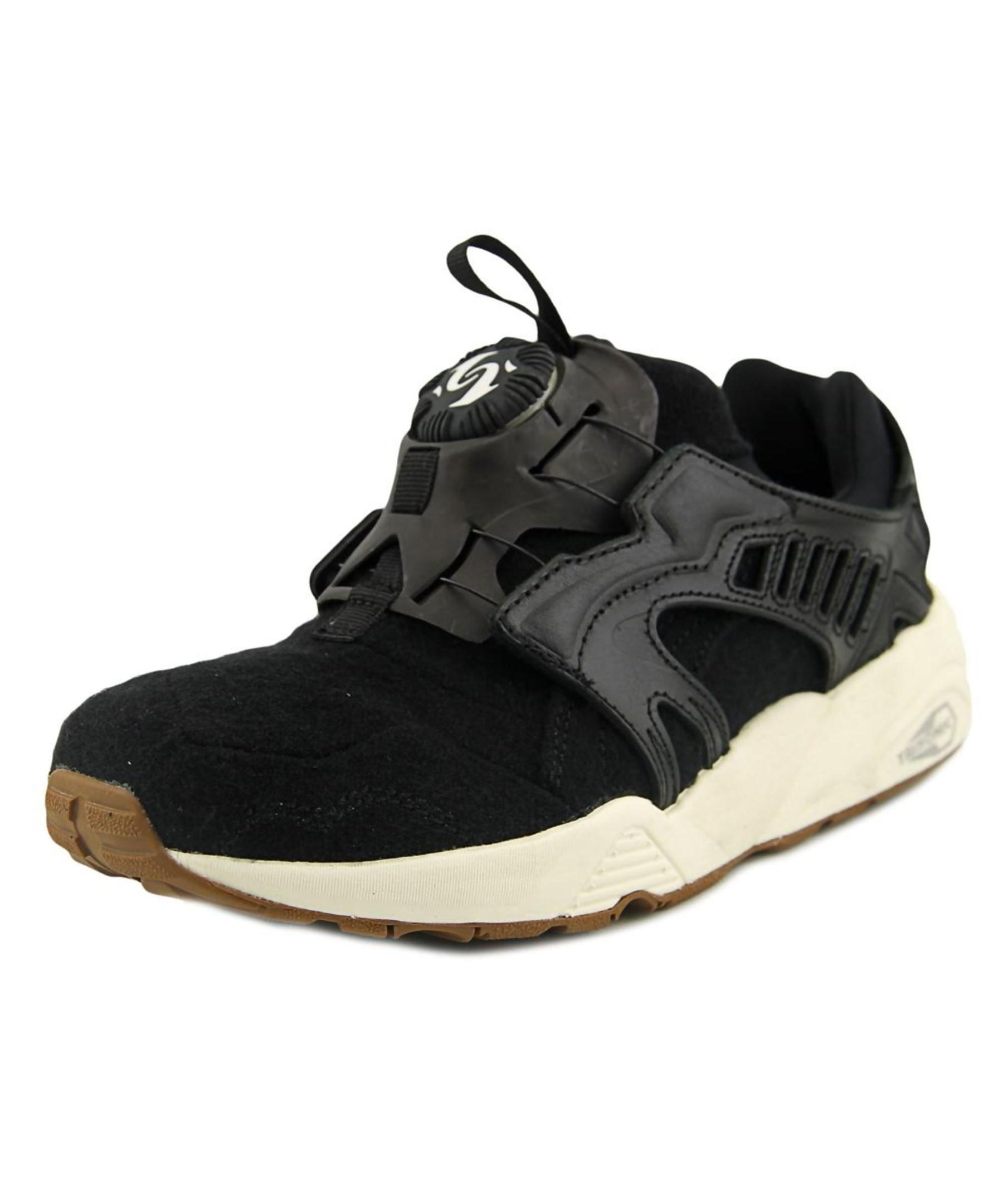 puma disc blaze round toe canvas sneakers in black for men. Black Bedroom Furniture Sets. Home Design Ideas