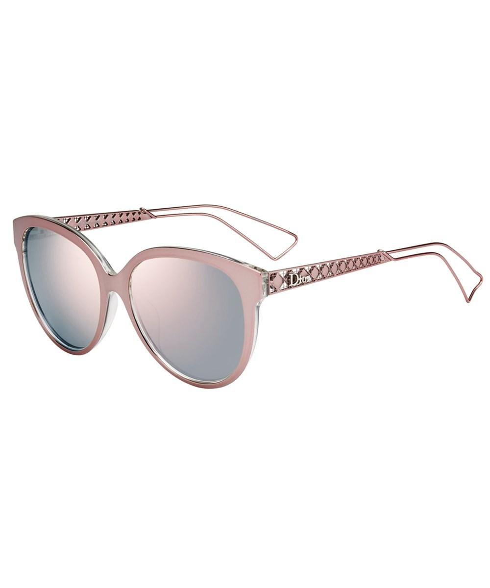3bffe497edb4d Lyst - Dior Ama 1 Square Metal Sunglasses in Pink