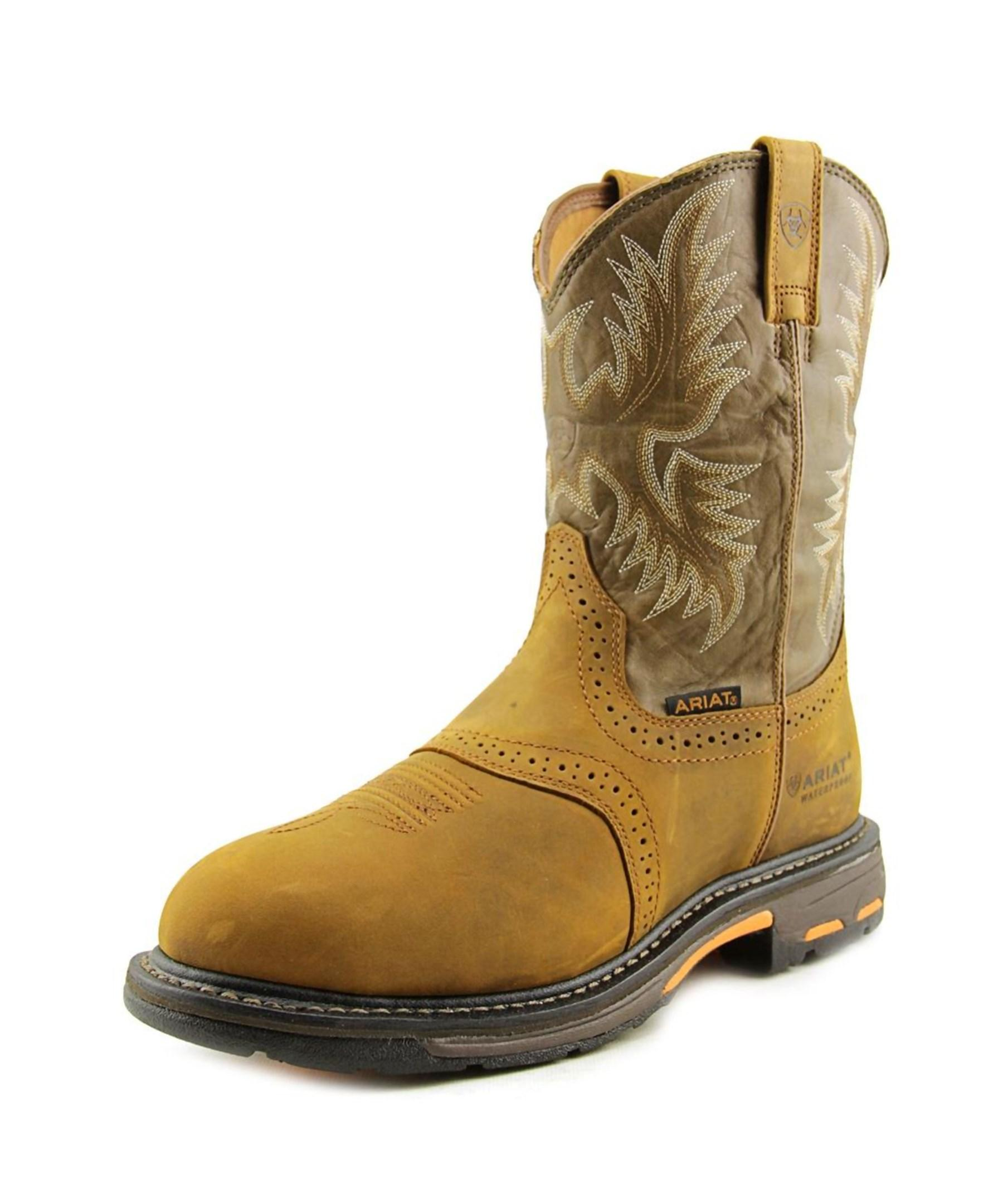 36ee48fc2dd Lyst - Ariat Workhog Round Toe Leather Hunting Boot in Brown for Men