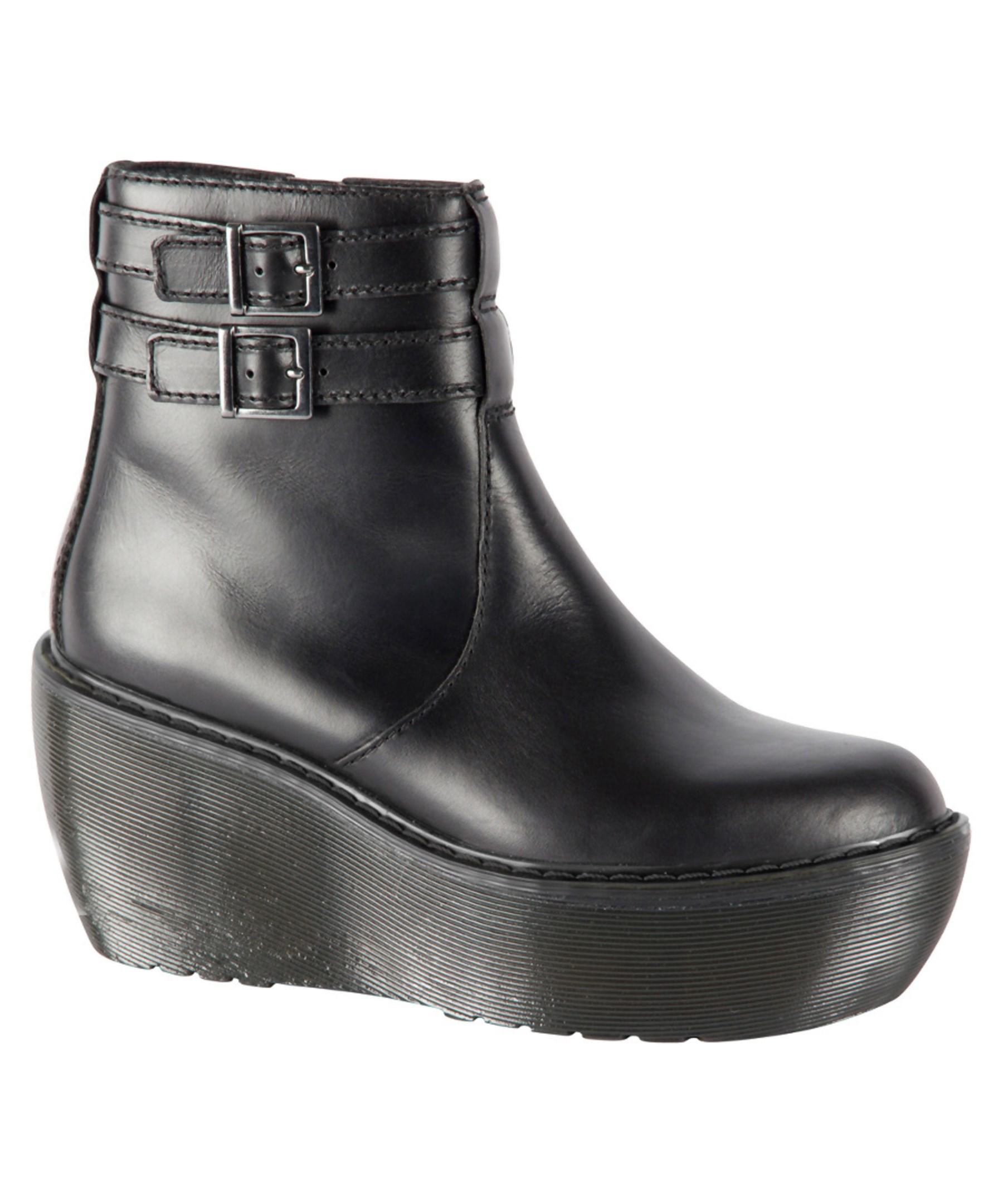 a398bcf0af7 Lyst - Dr. Martens Dr Marten s Caitlin Platform Leather Ankle Boot ...