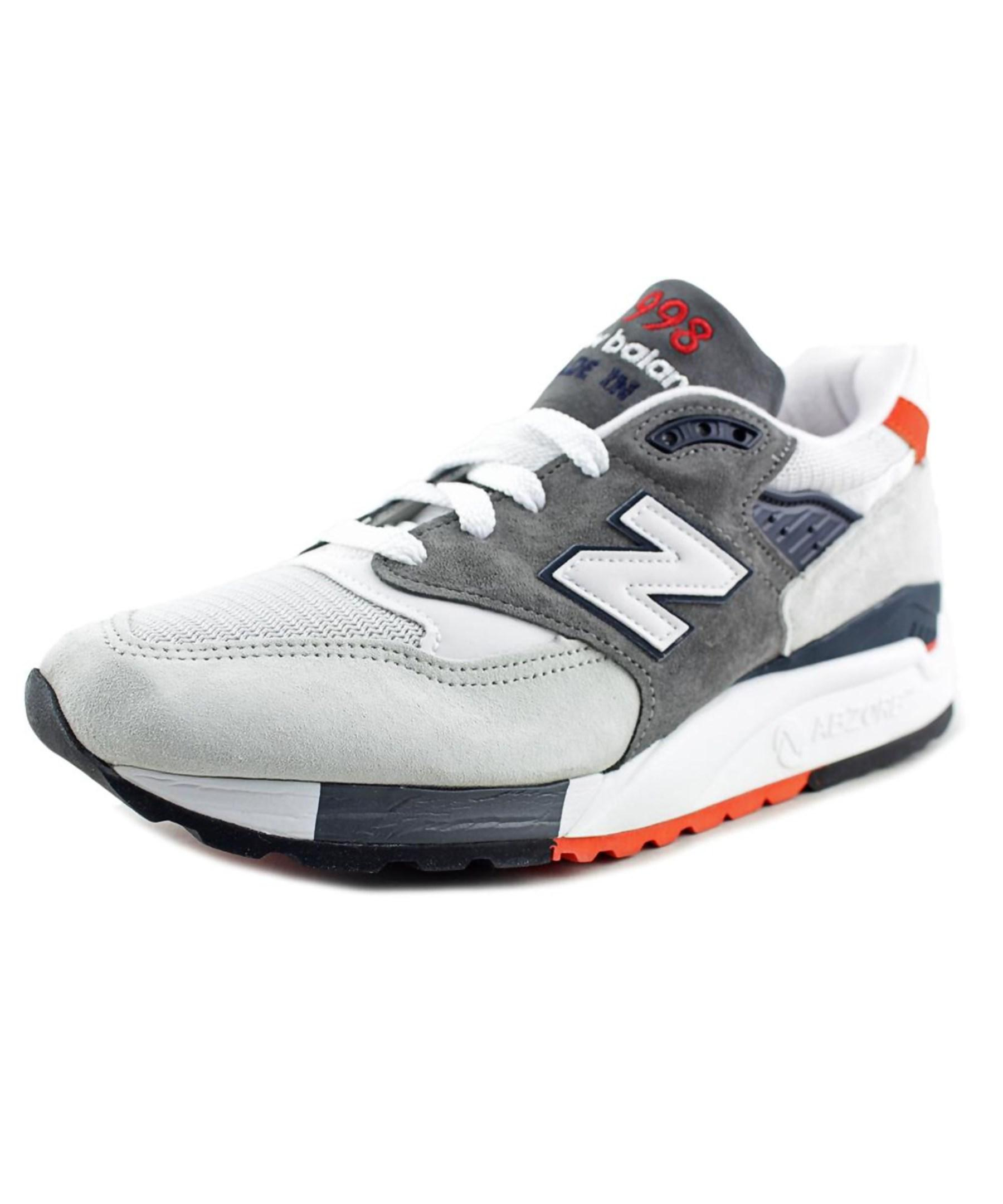 new balance m998 toe suede tennis shoe in gray