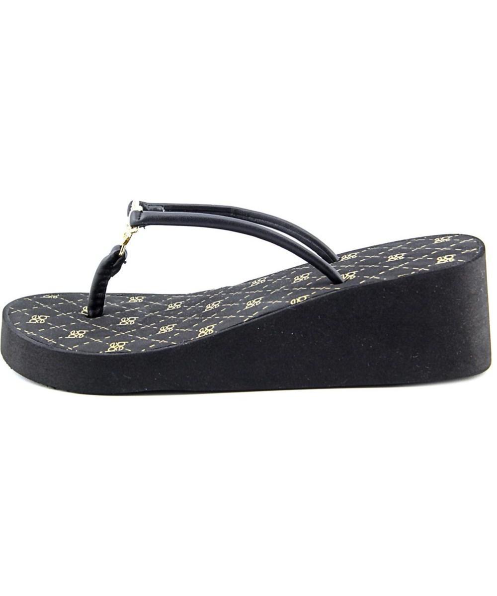 0e89c04b5fa55 Lyst - Bebe Rylie Women Open Toe Synthetic Black Flip Flop Sandal in ...