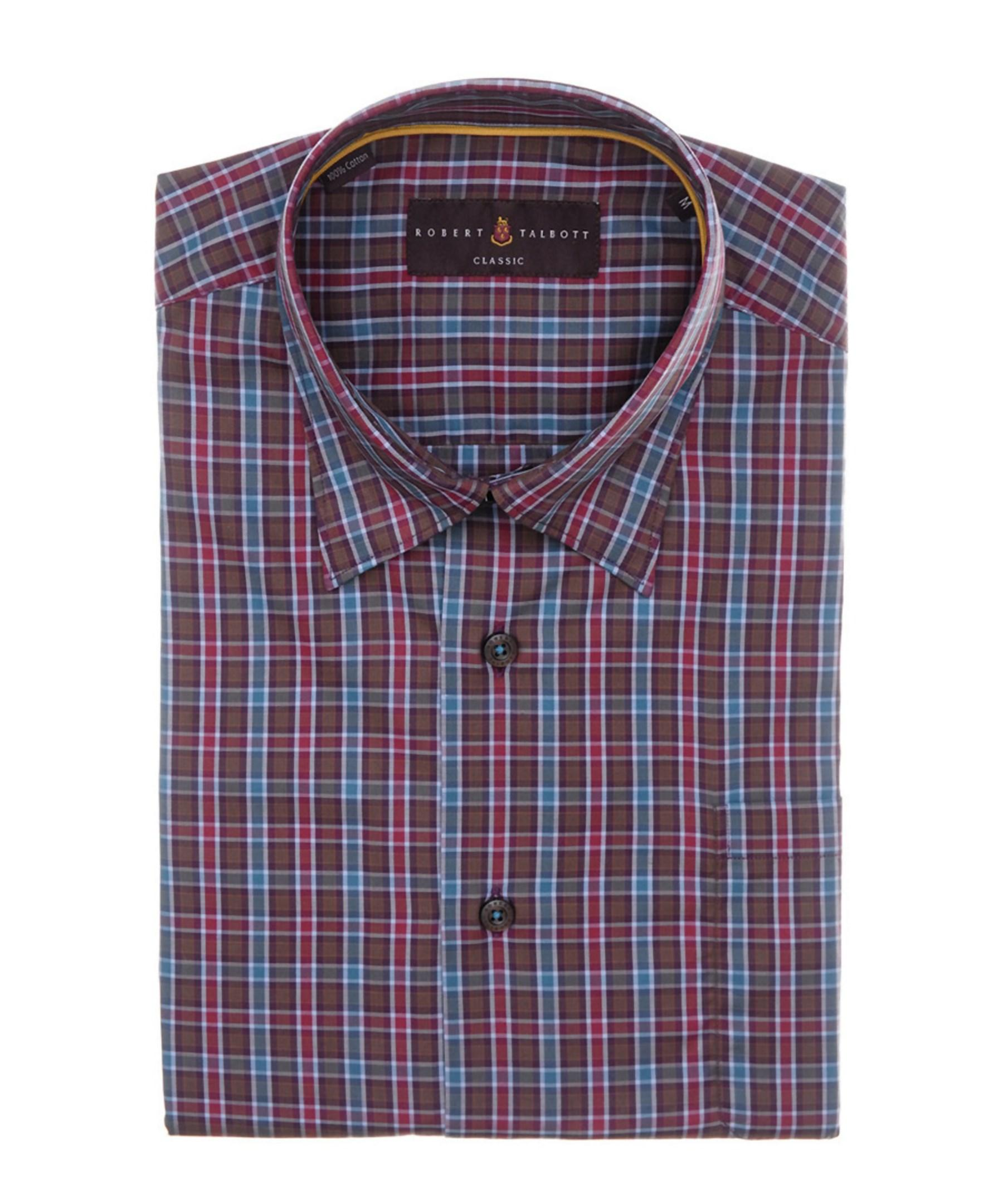 Robert talbott anderson classic fit woven shirt in red for for Robert talbott shirts sale