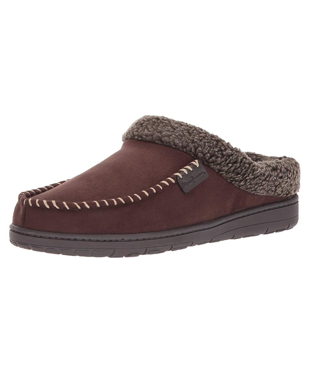 7de84ab5100 Lyst - Dearfoams Men s Clog With Whipstitch And Mf Slipper in Brown ...