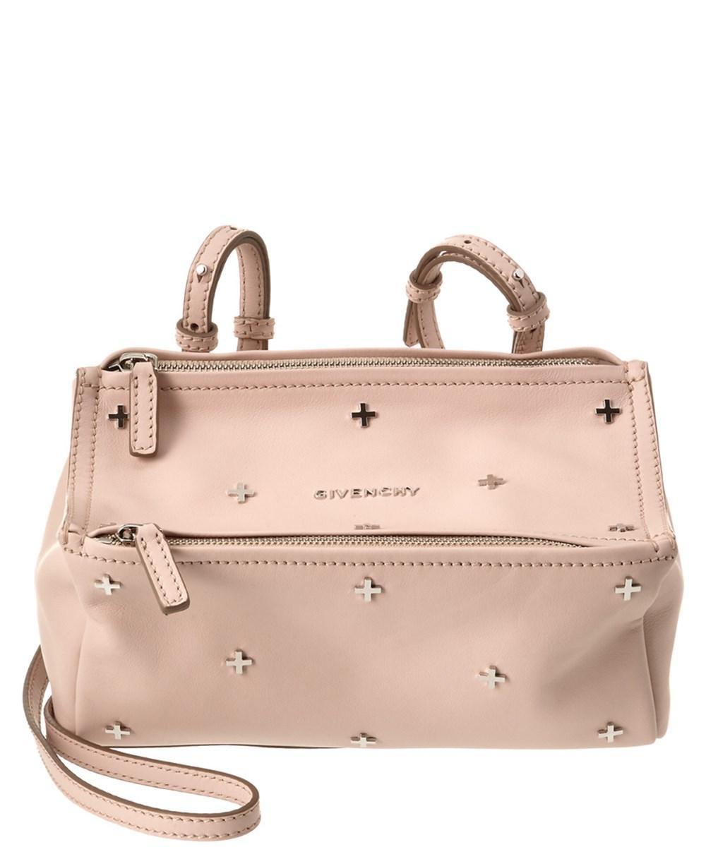 77bf398780 Lyst - Givenchy Pandora Mini Cross Embellished Leather Shoulder Bag ...