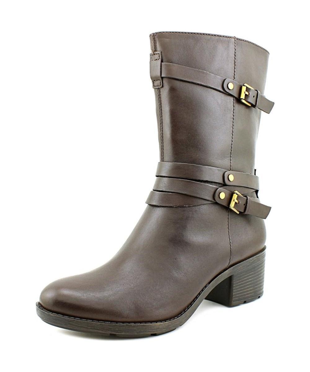 fa3f68c373bb Lyst - Bandolino Ursal Round Toe Suede Mid Calf Boot in Brown
