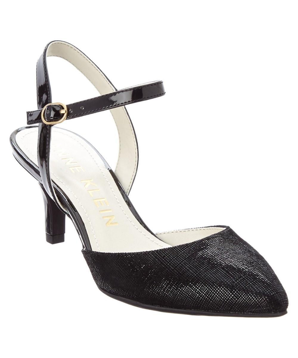 ab97e1ffb5a Lyst - Anne Klein Franie Leather Pump in Black
