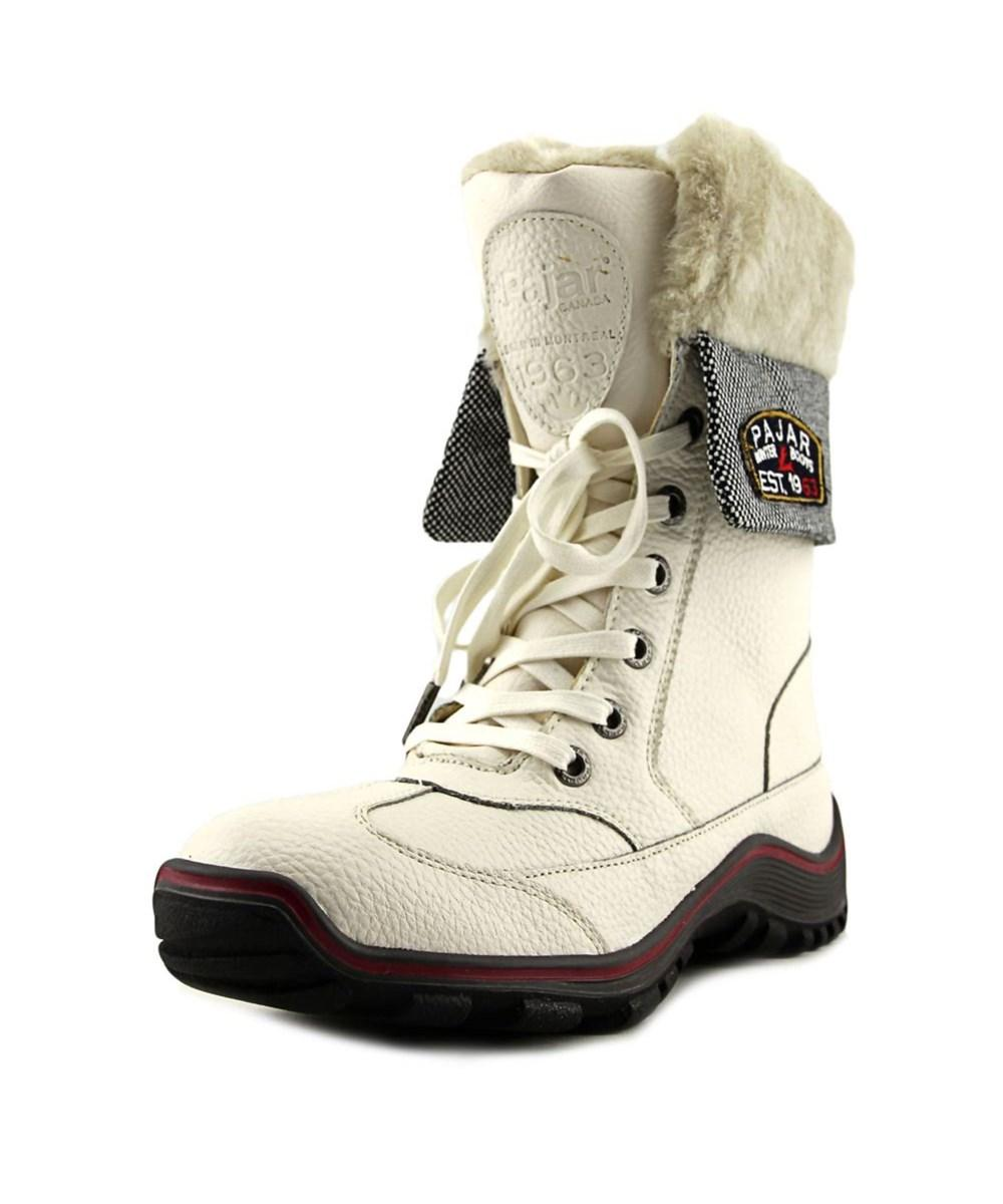 2043a7f2f158 Lyst - Pajar Alice Boot Women Round Toe Leather Snow Boot in White