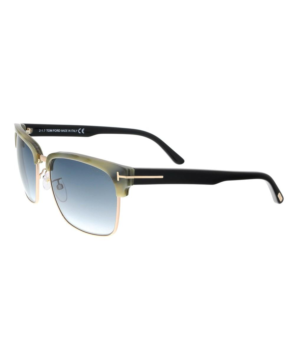 079acd089ee9 Lyst - Tom Ford Ft0367 s 60b River Green Horn gold Square Sunglasses ...